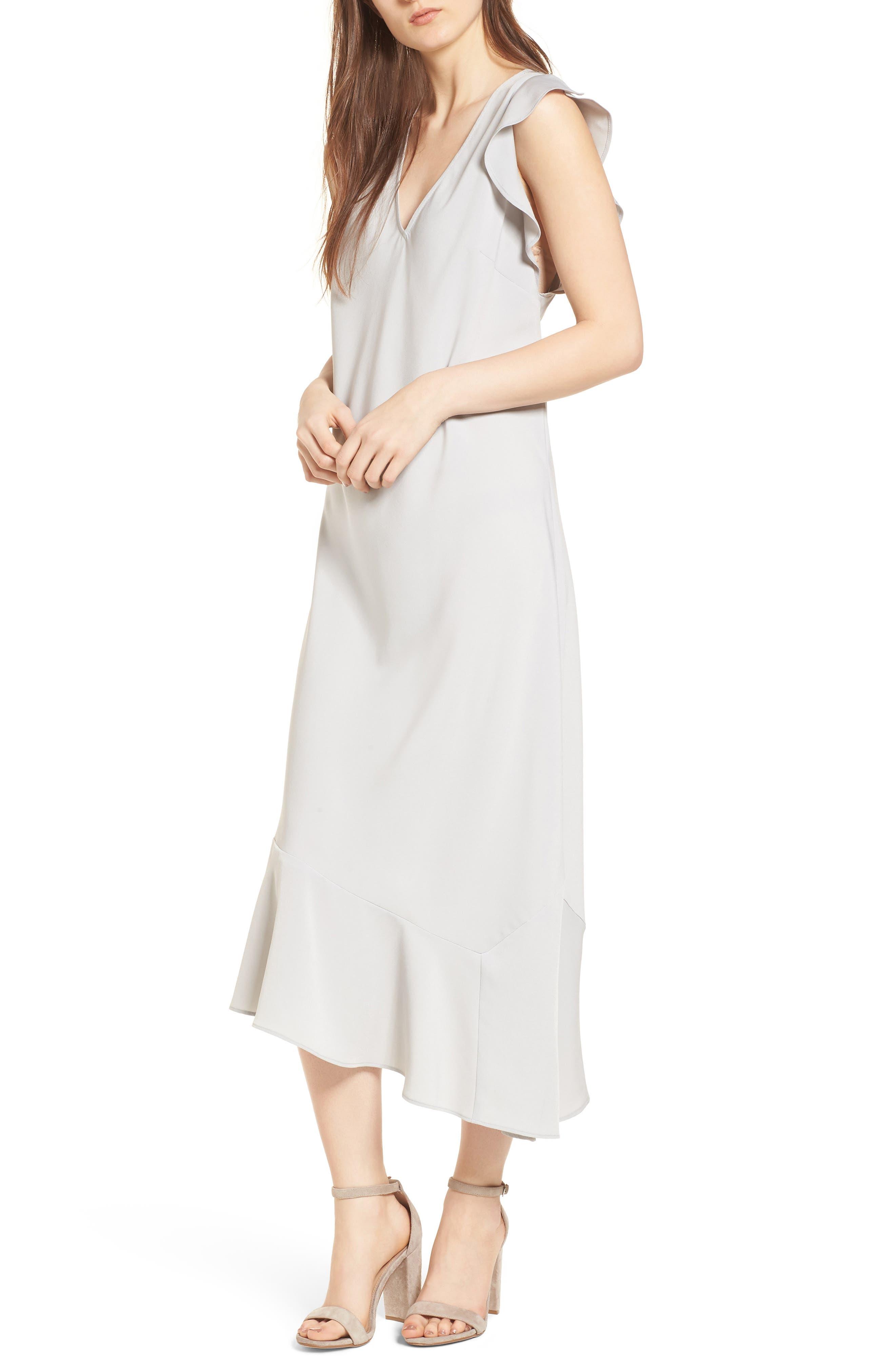 Bias Cut Asymmetrical Dress,                             Alternate thumbnail 5, color,
