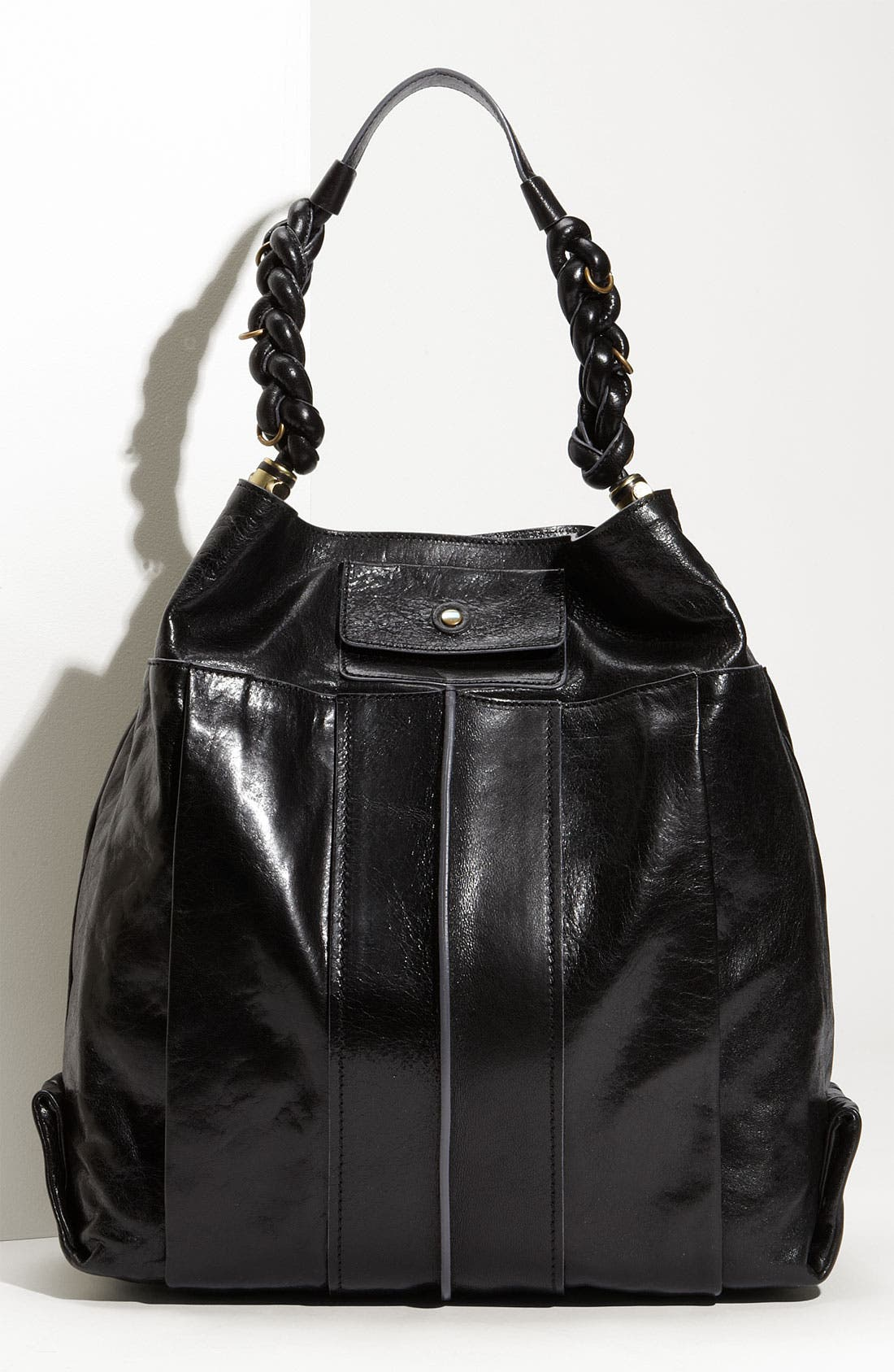 'Heloise' Leather Hobo,                             Main thumbnail 1, color,                             001