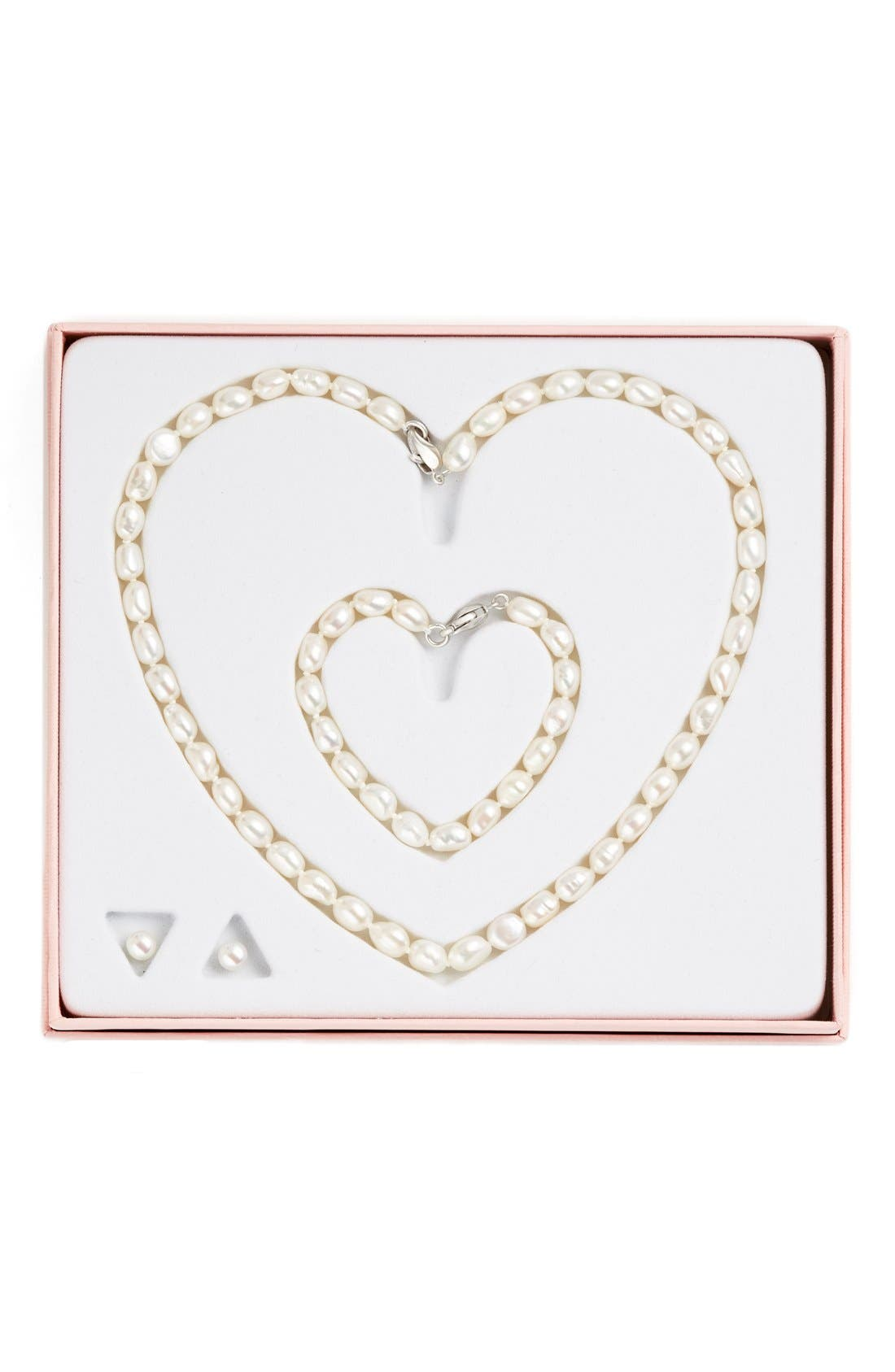 Freshwater Pearl Necklace, Bracelet & Earrings,                             Alternate thumbnail 2, color,