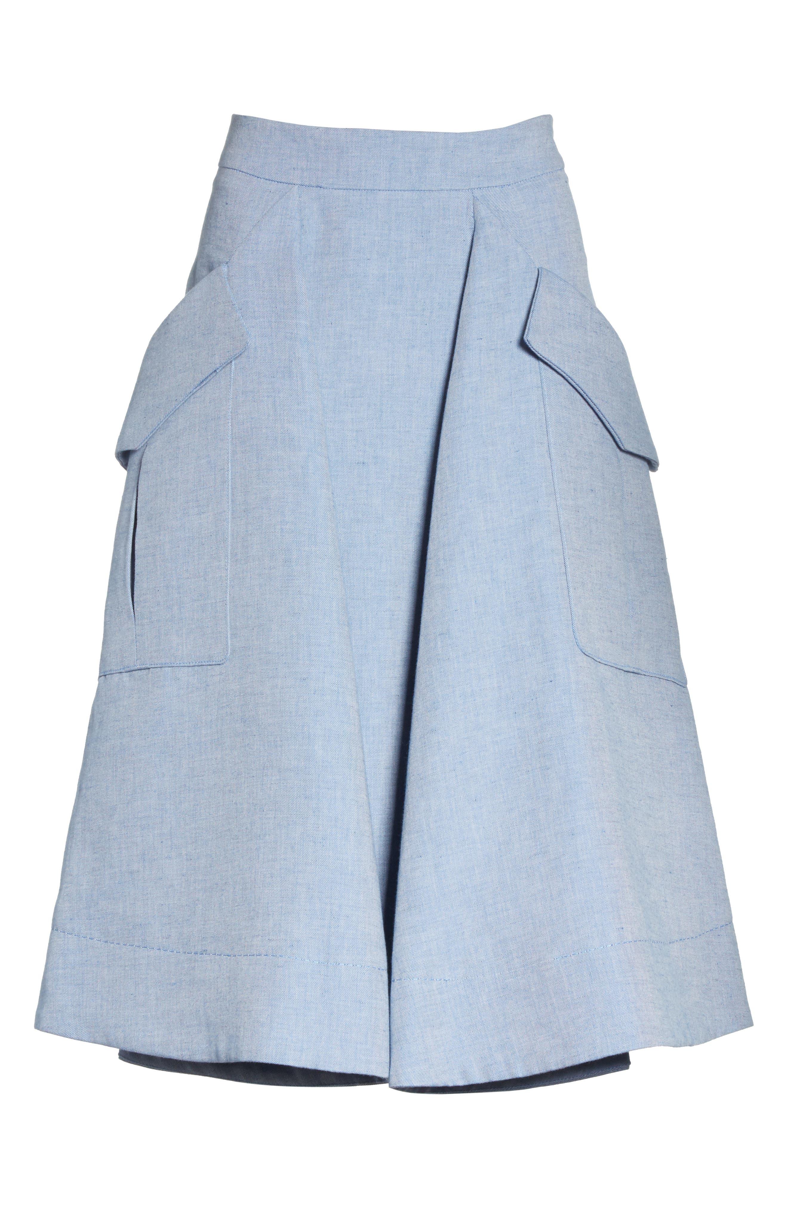 Jupe Genou Skirt,                             Alternate thumbnail 6, color,                             400