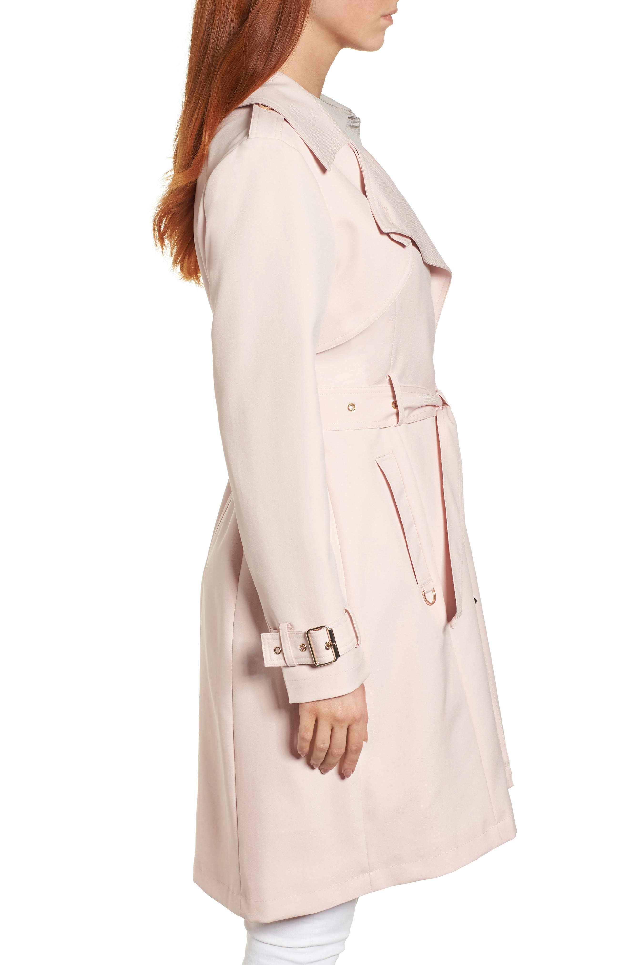 Flowy Belted Trench Coat,                             Alternate thumbnail 11, color,
