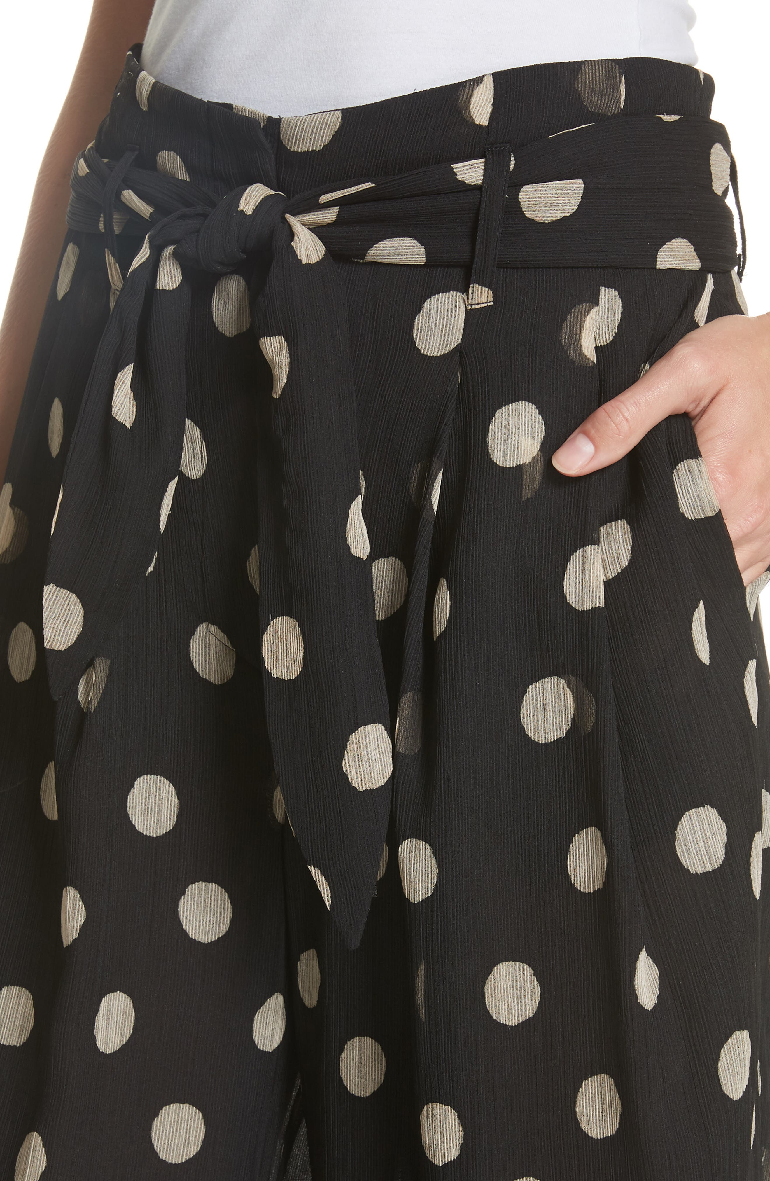 Nevada Polka Dot Chiffon Pants,                             Alternate thumbnail 4, color,                             POLKA DOT