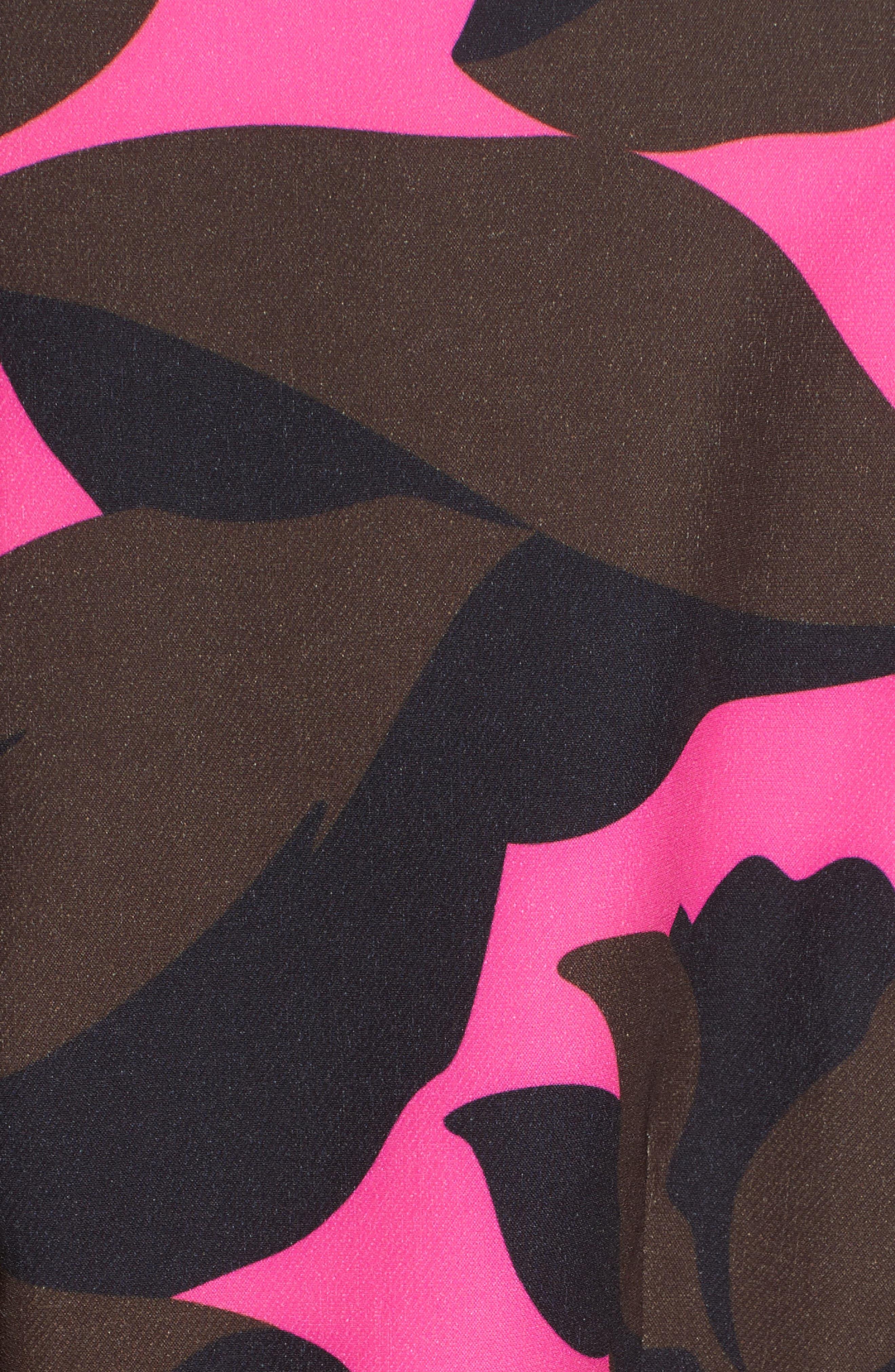 Floral Print Minidress,                             Alternate thumbnail 5, color,
