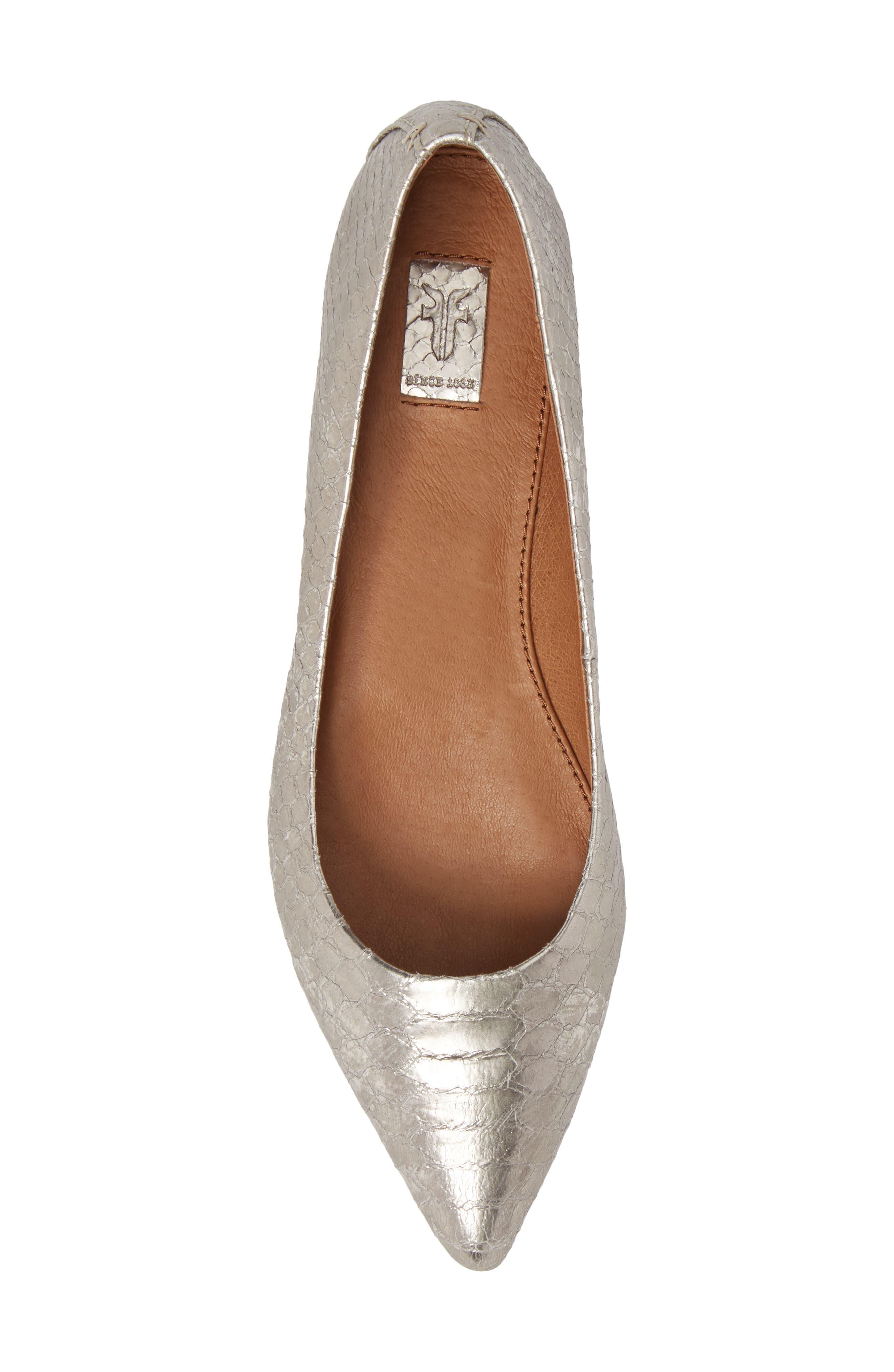 Sienna Pointy Toe Ballet Flat,                             Alternate thumbnail 5, color,                             040
