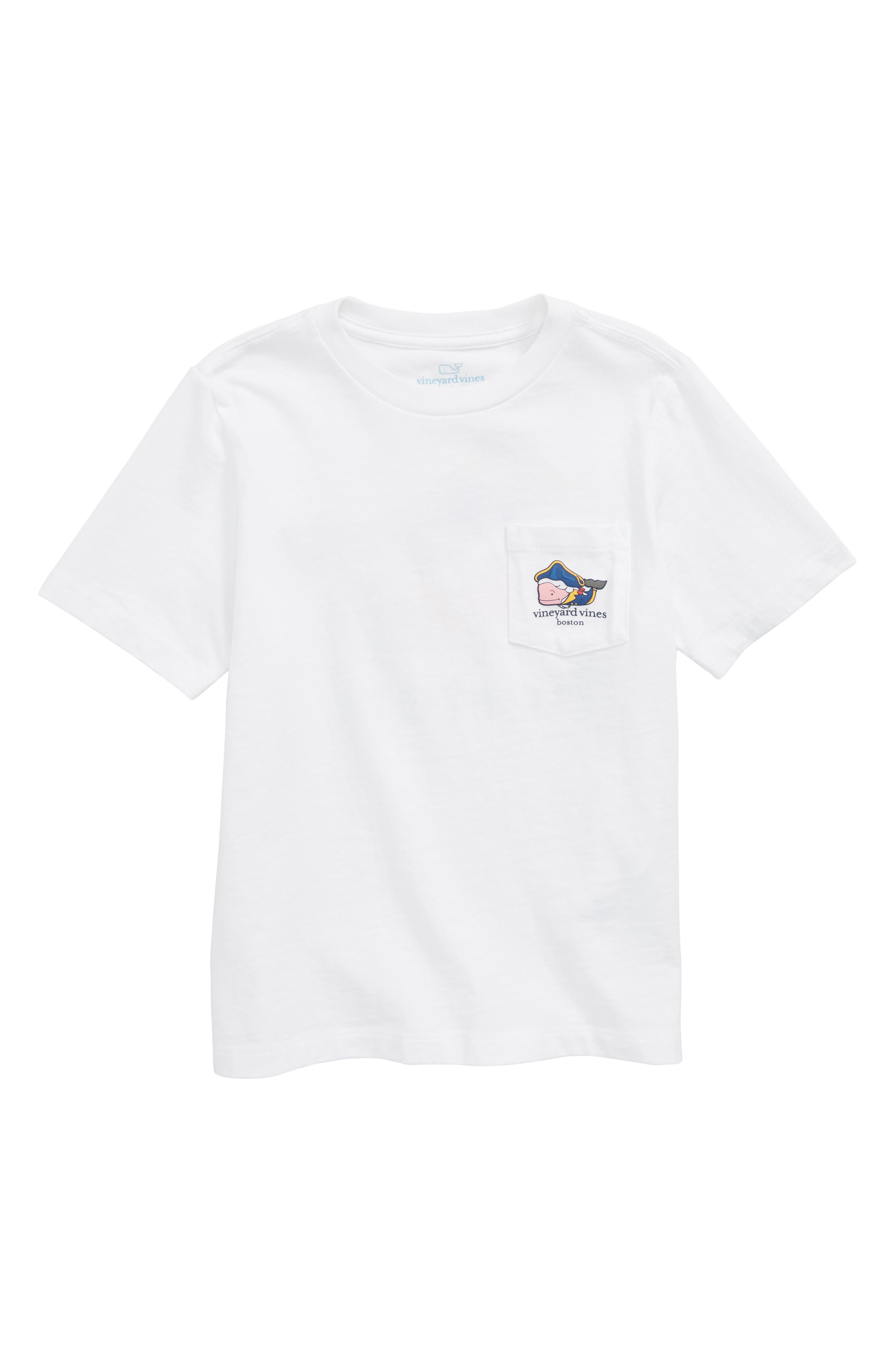 Boston Whale Pocket T-Shirt,                             Main thumbnail 1, color,                             WHITE CAP