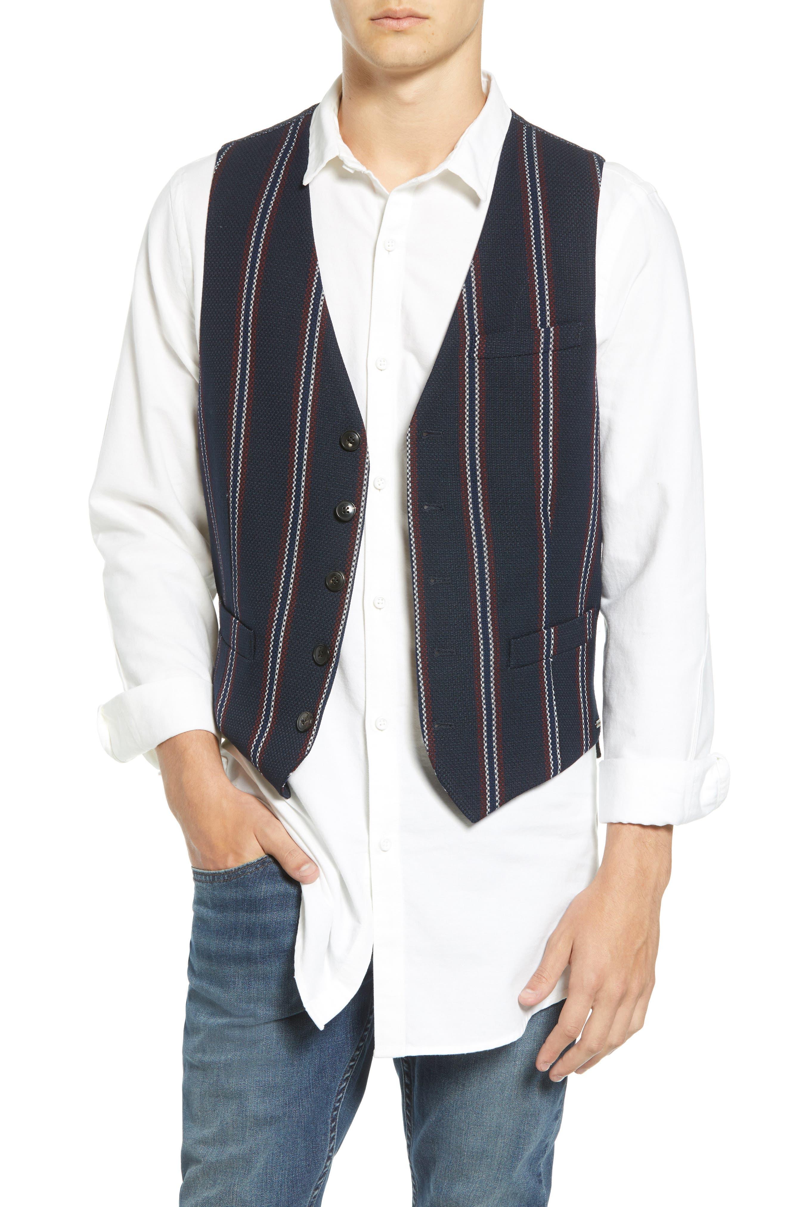 Scotch & Soda Structured Stripe Vest