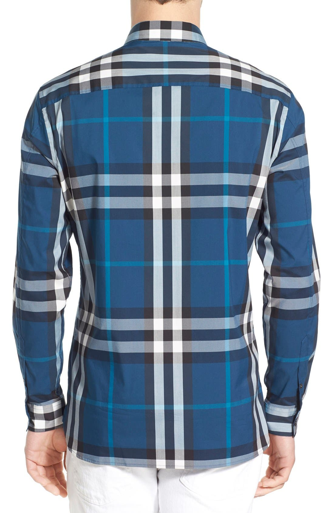 Nelson Check Sport Shirt,                             Alternate thumbnail 40, color,