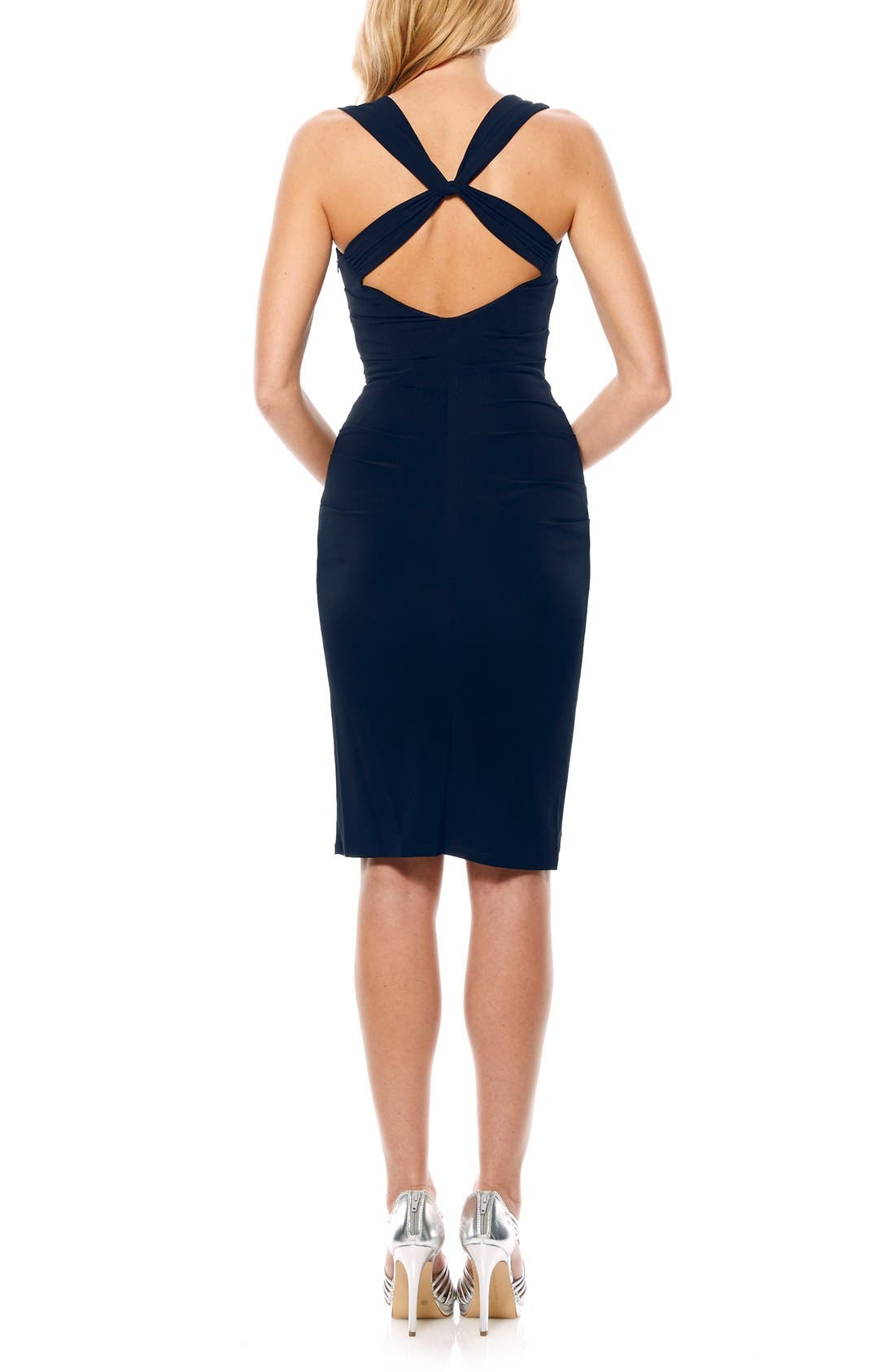Twist Back Jersey Body-Con Dress,                             Alternate thumbnail 10, color,