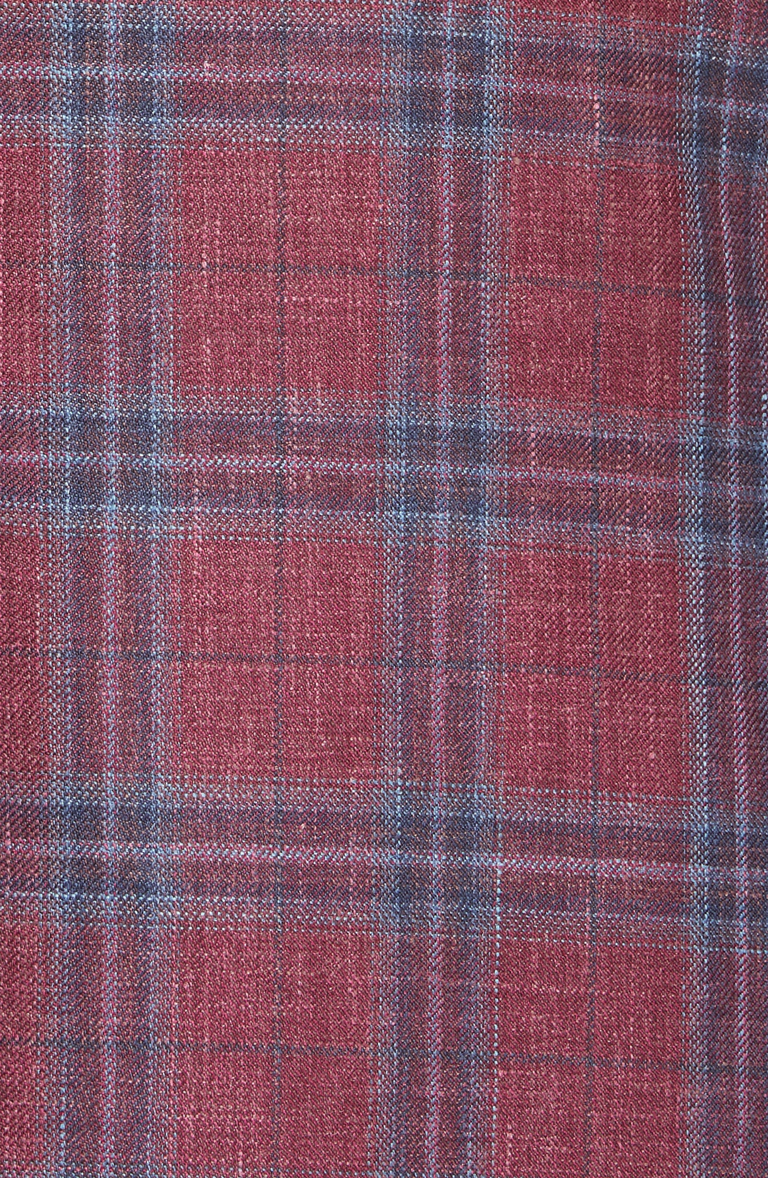 Regular Fit Wool Blend Plaid Sport Coat,                             Alternate thumbnail 6, color,