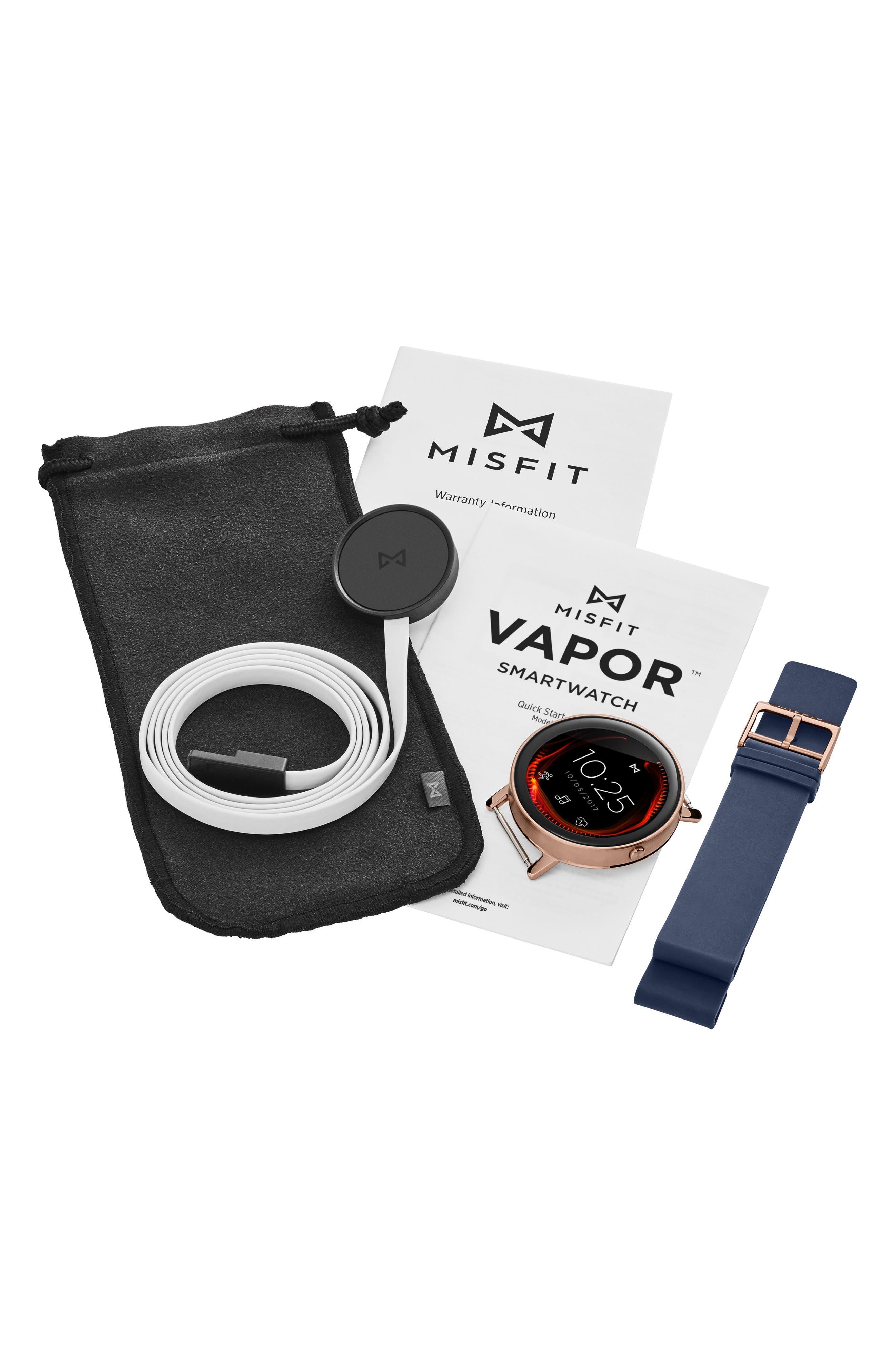 Vapor Sport Strap Smart Watch, 44mm,                             Alternate thumbnail 4, color,                             NAVY