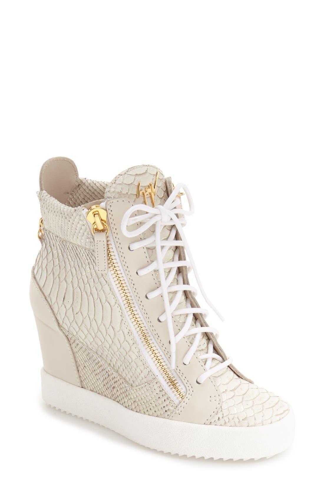GIUSEPPE ZANOTTI Ofelia Wedge Sneaker, Main, color, 040
