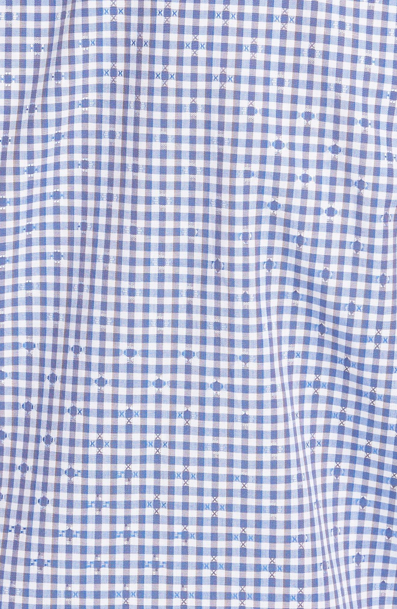 Mini Check Sport Shirt,                             Alternate thumbnail 5, color,                             400