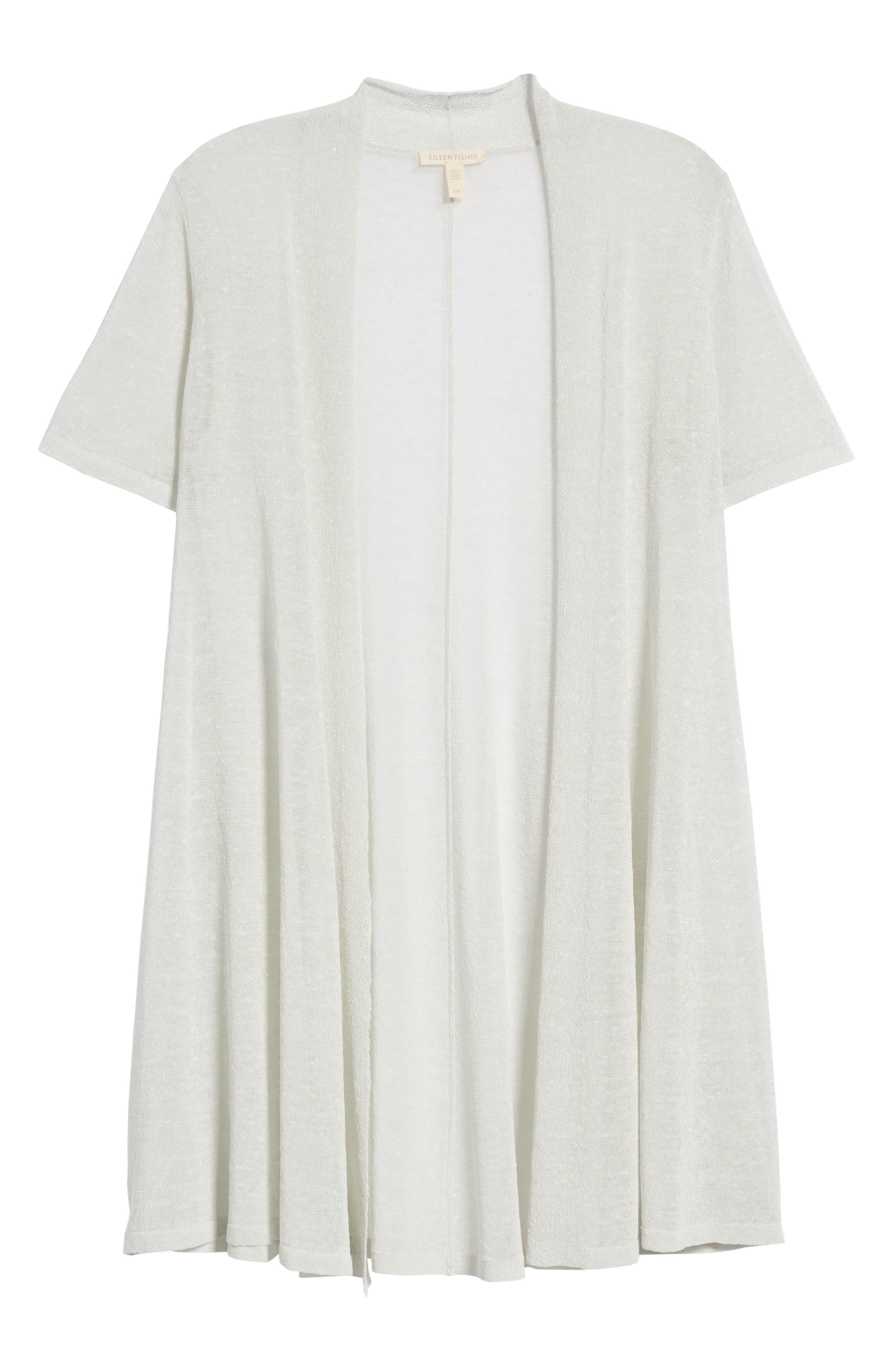 Long Organic Linen Blend Cardigan,                             Alternate thumbnail 13, color,