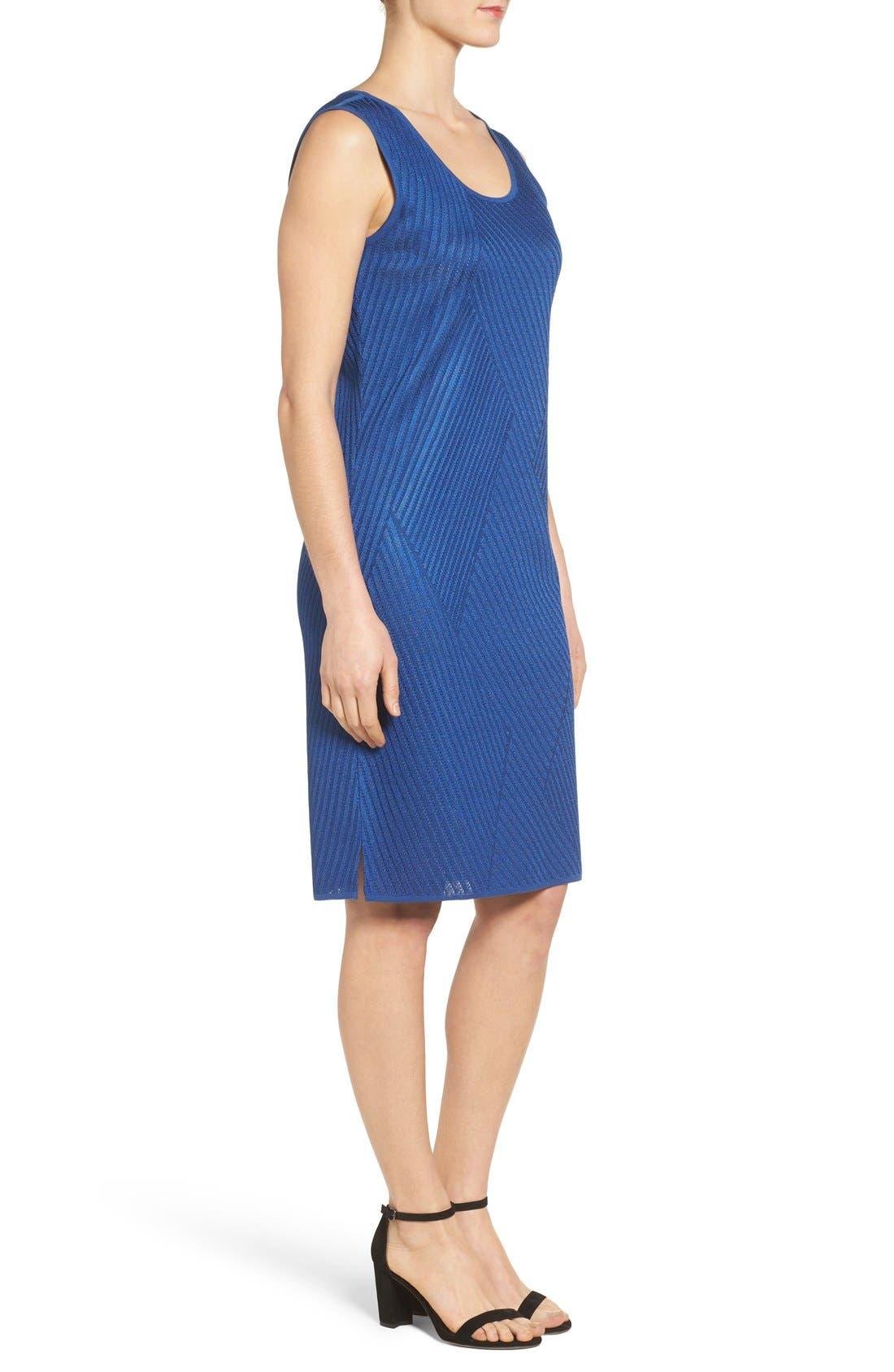 Texture Knit Sheath Dress,                             Alternate thumbnail 8, color,