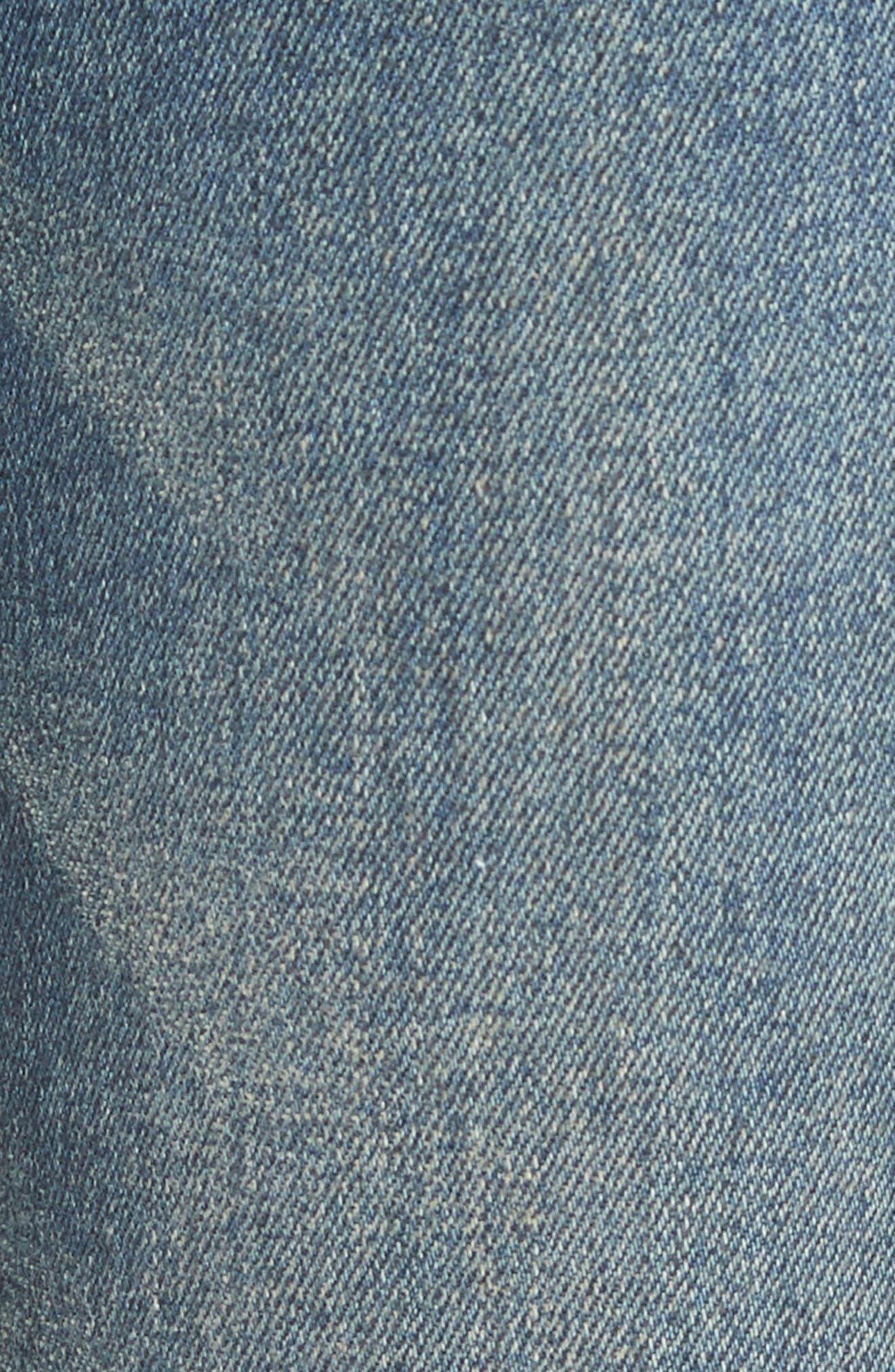Studded Pocket Skinny Jeans,                             Alternate thumbnail 5, color,