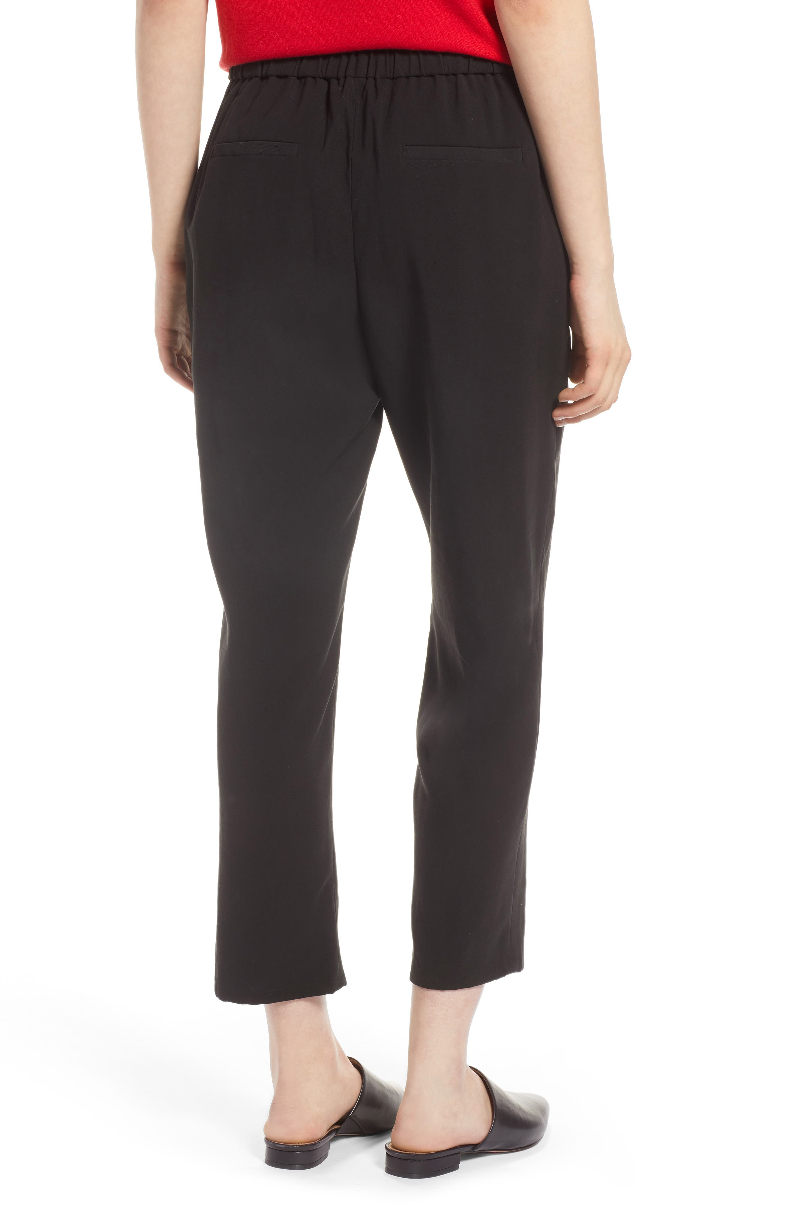 Pull-On Ankle Pants,                             Alternate thumbnail 3, color,