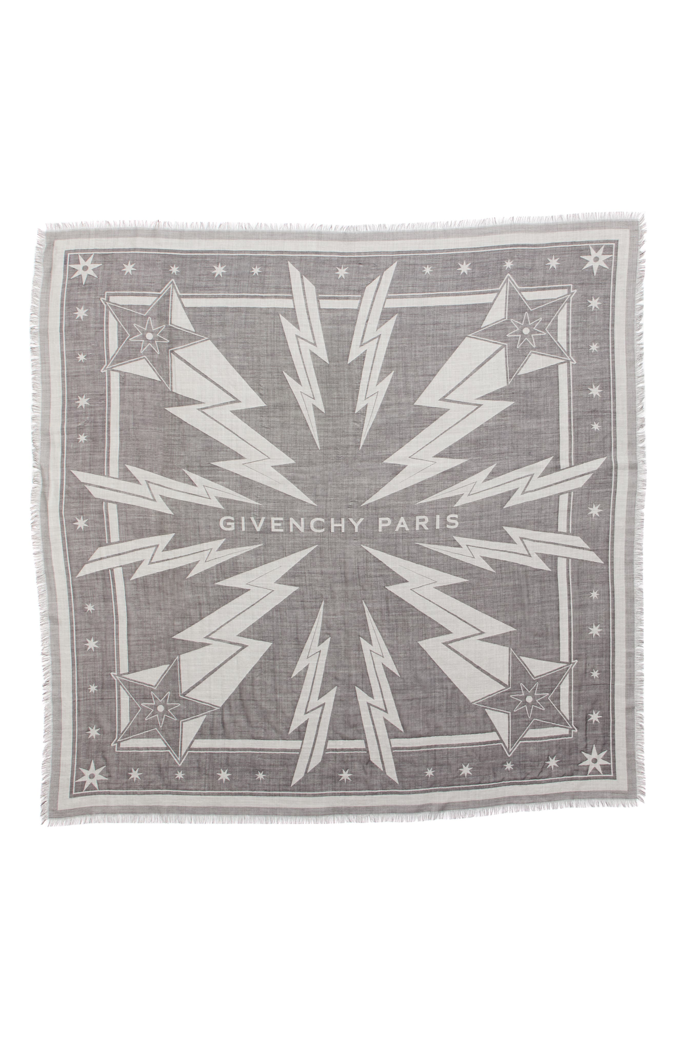Iconic Flash Jacquard Silk & Wool Shawl,                         Main,                         color, BLACK/ WHITE
