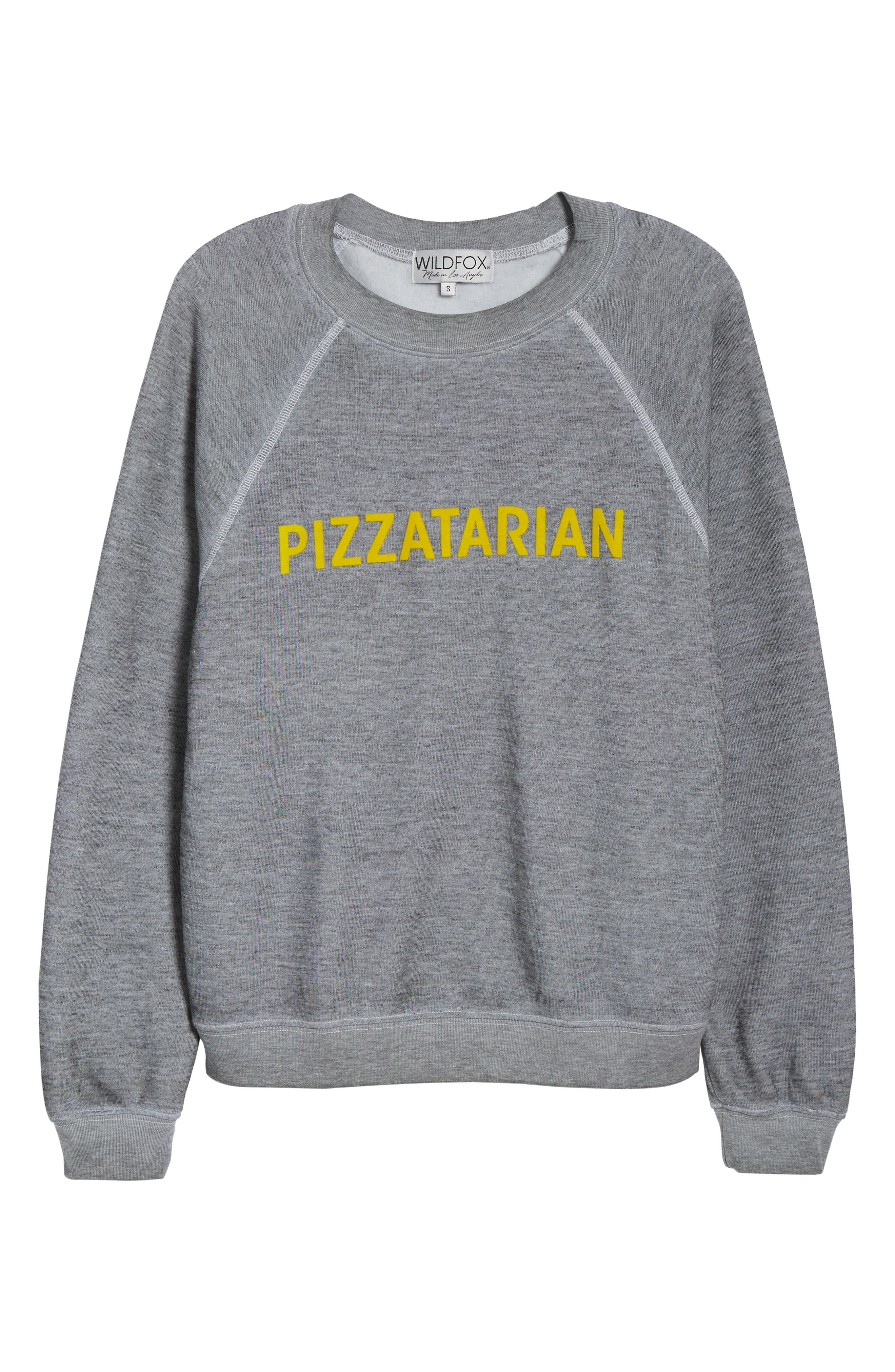 Pizzatarian Sommers Sweatshirt,                             Alternate thumbnail 6, color,                             HEATHER
