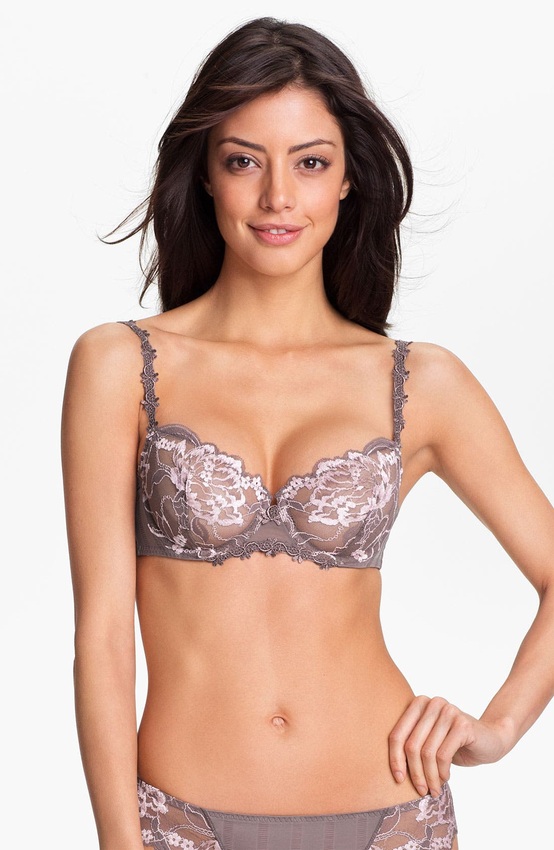 'Amour' Underwire Demi Bra,                             Main thumbnail 4, color,