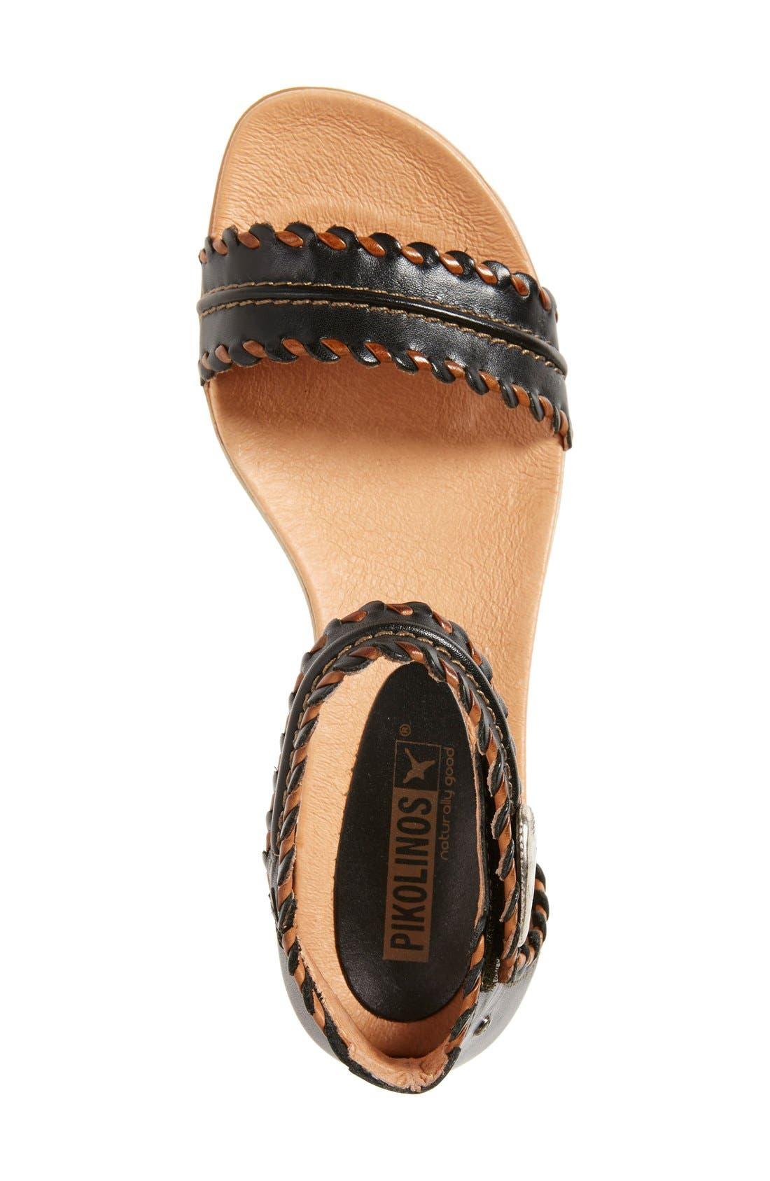 'Alcudia' Ankle Strap Sandal,                             Alternate thumbnail 4, color,                             001