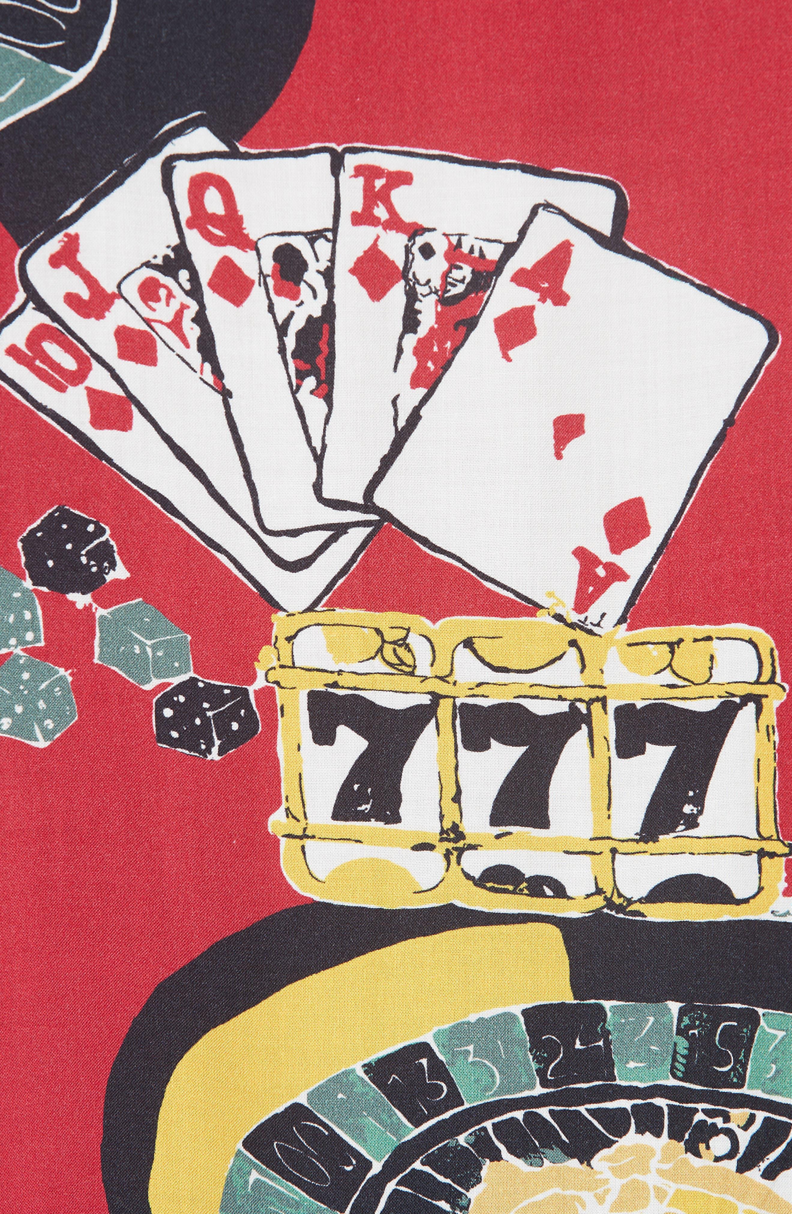OVADIA & SONS,                             Casino Print Shirt,                             Alternate thumbnail 5, color,                             600