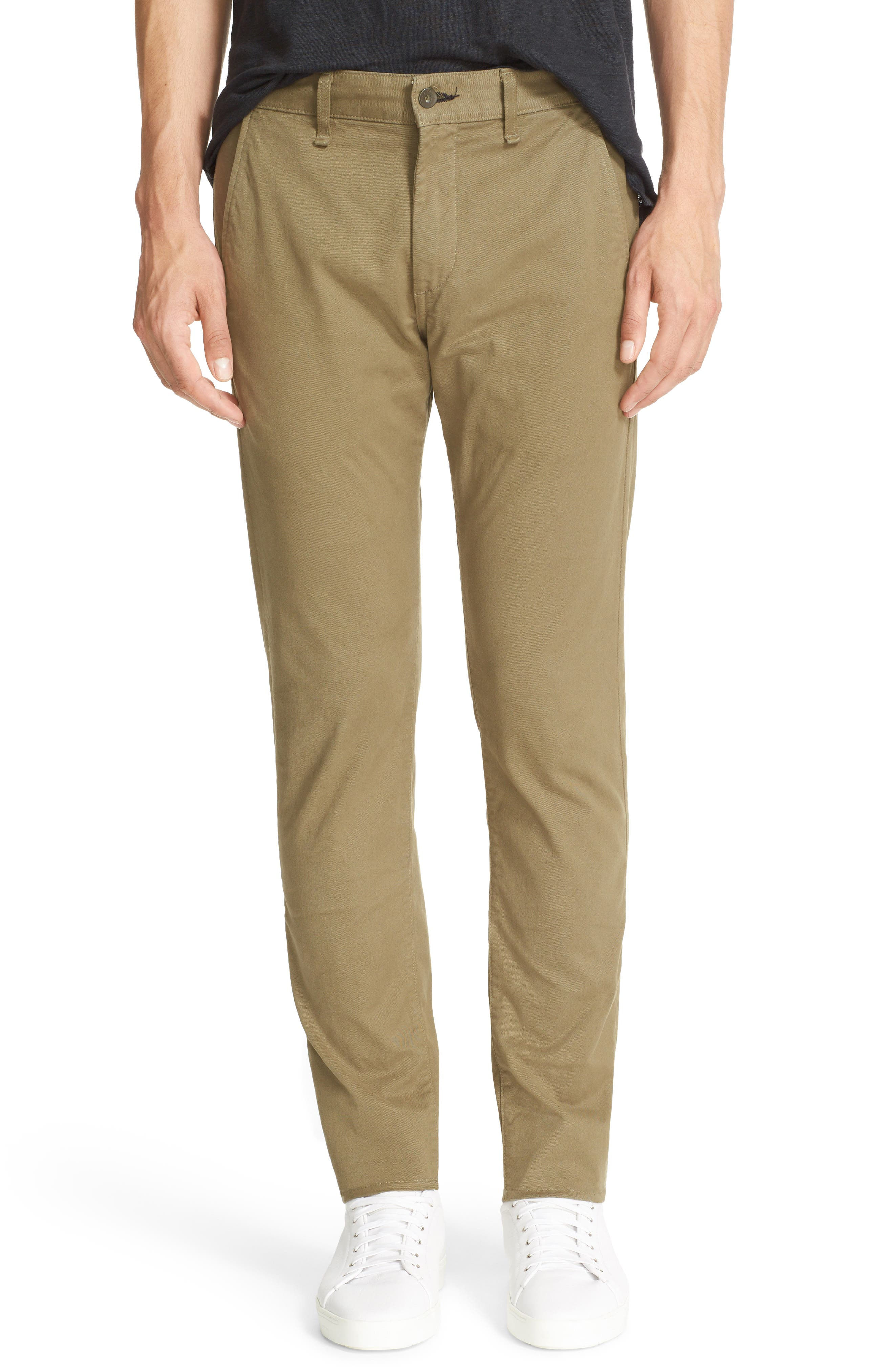 Fit 1 Chinos,                         Main,                         color, ARMY GREEN