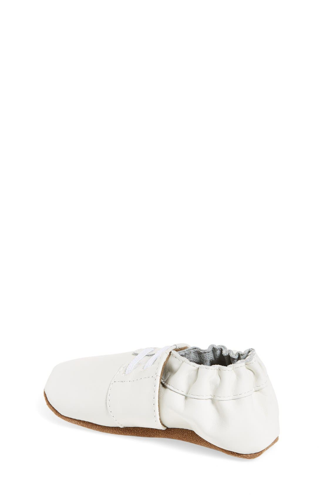 'Special Occasion' Crib Shoe,                             Alternate thumbnail 2, color,                             WHITE