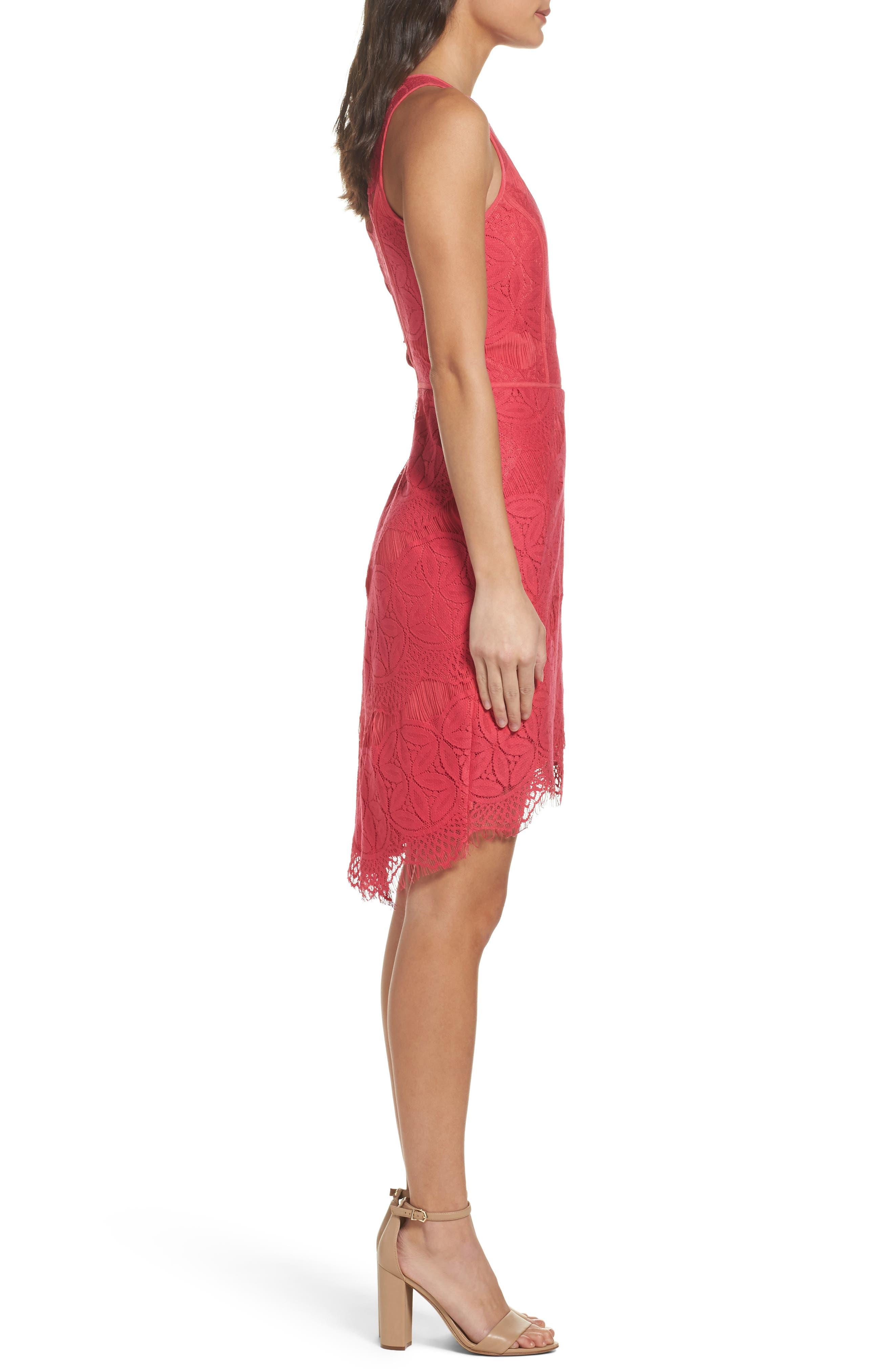 Lace High/Low Sheath Dress,                             Alternate thumbnail 25, color,