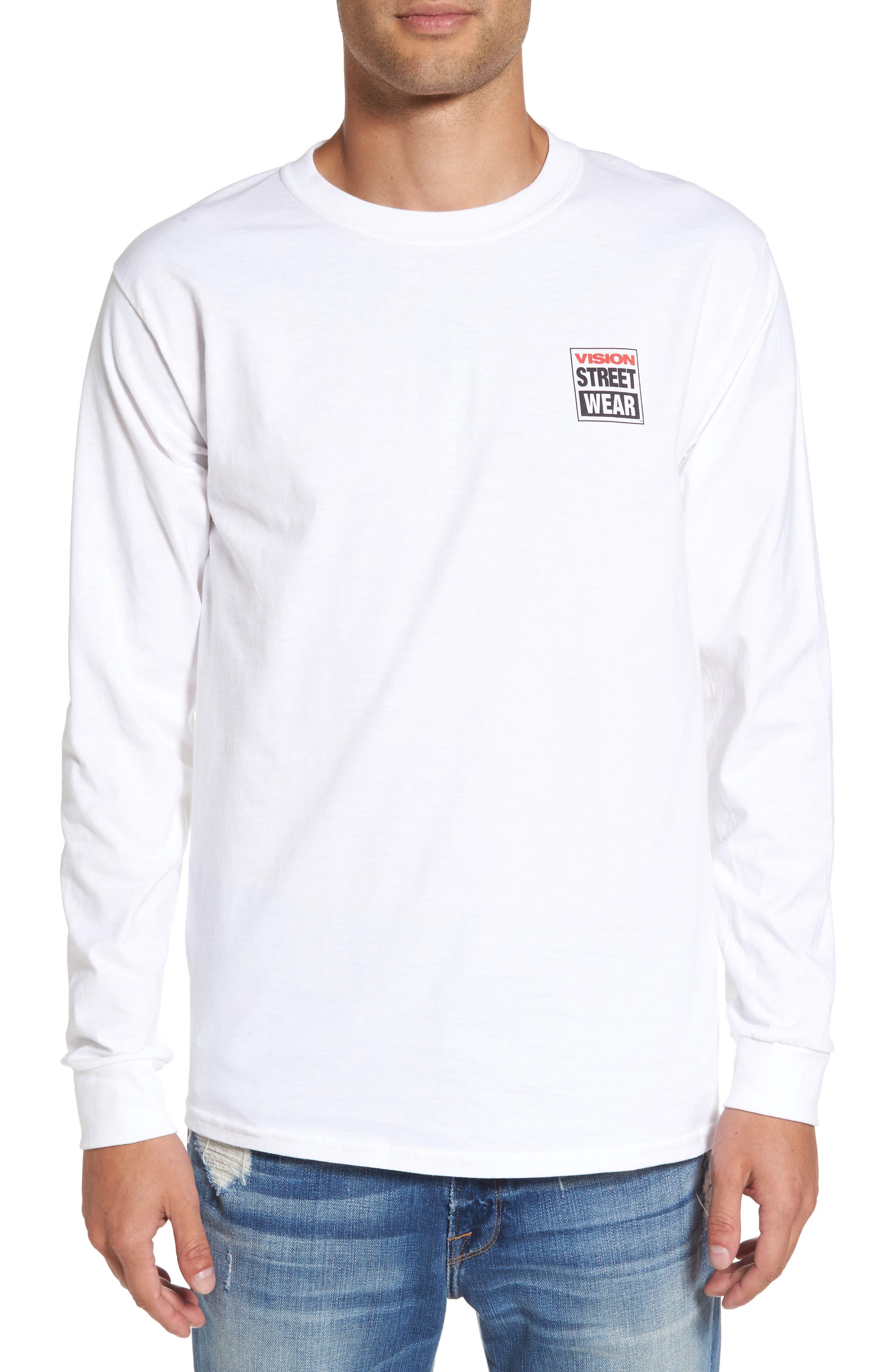 Vision Street Wear Long Sleeve T-Shirt,                             Alternate thumbnail 2, color,                             100
