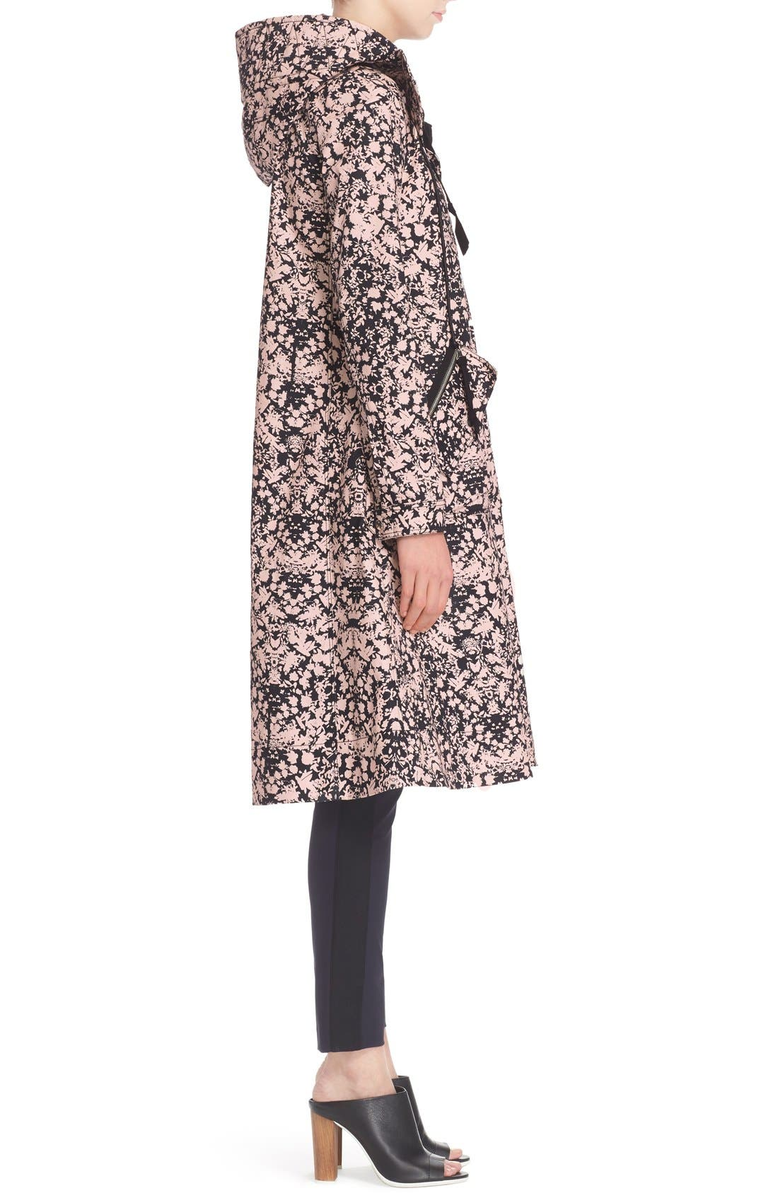 Print Stretch Cotton Trench Coat,                             Alternate thumbnail 5, color,                             110