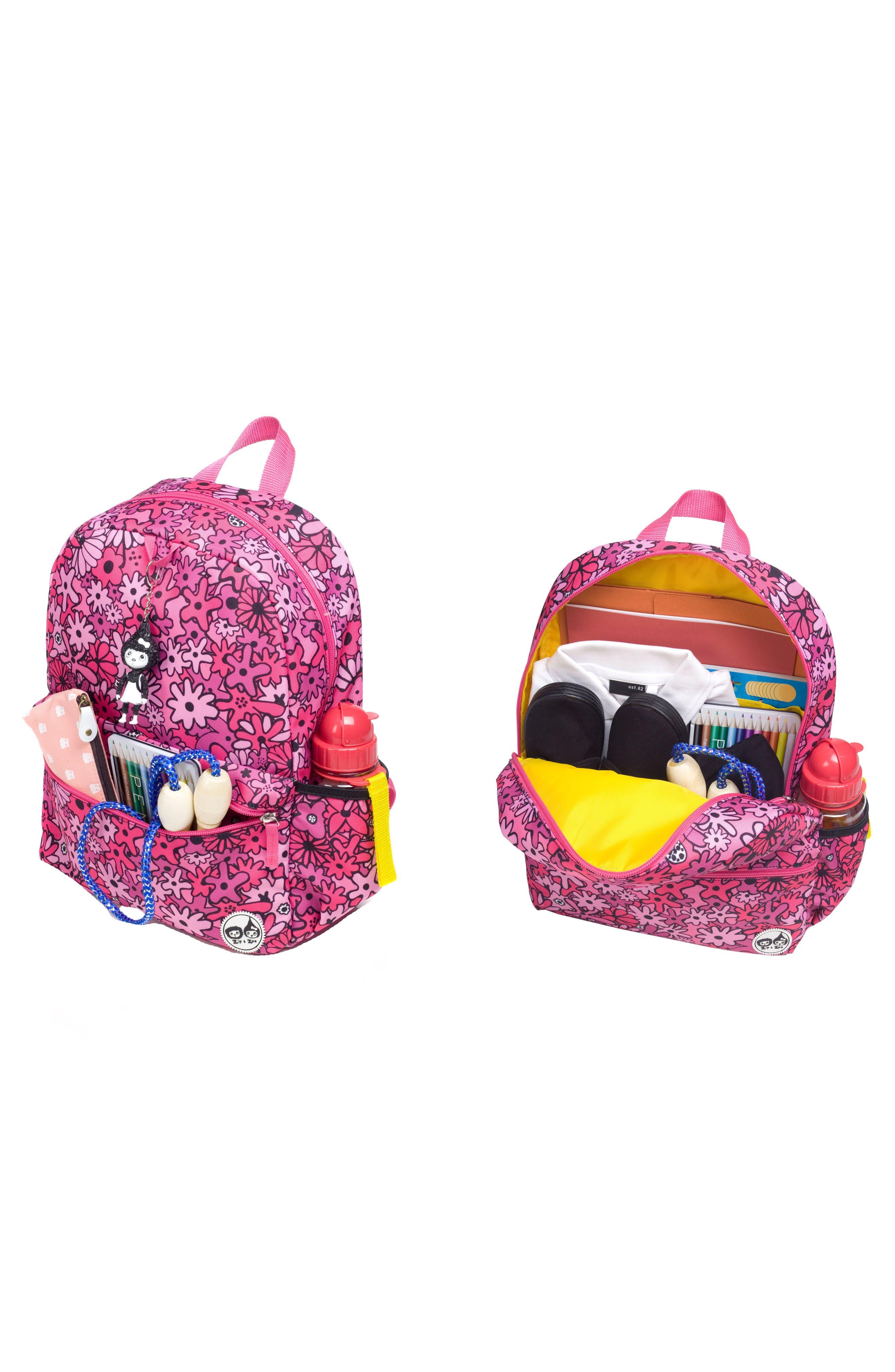 BABYMEL,                             Zip & Zoe Floral Junior Backpack,                             Alternate thumbnail 8, color,                             650