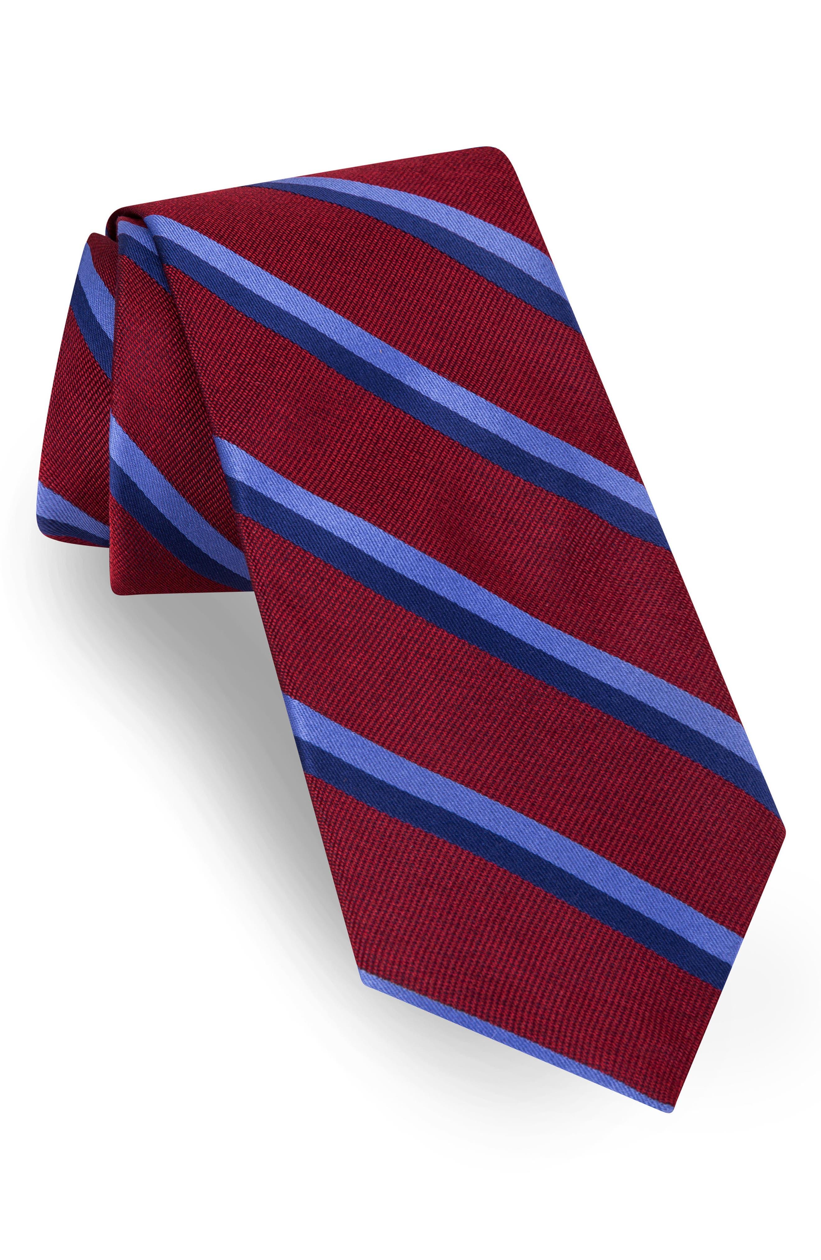 Stripe Silk Tie,                             Main thumbnail 4, color,
