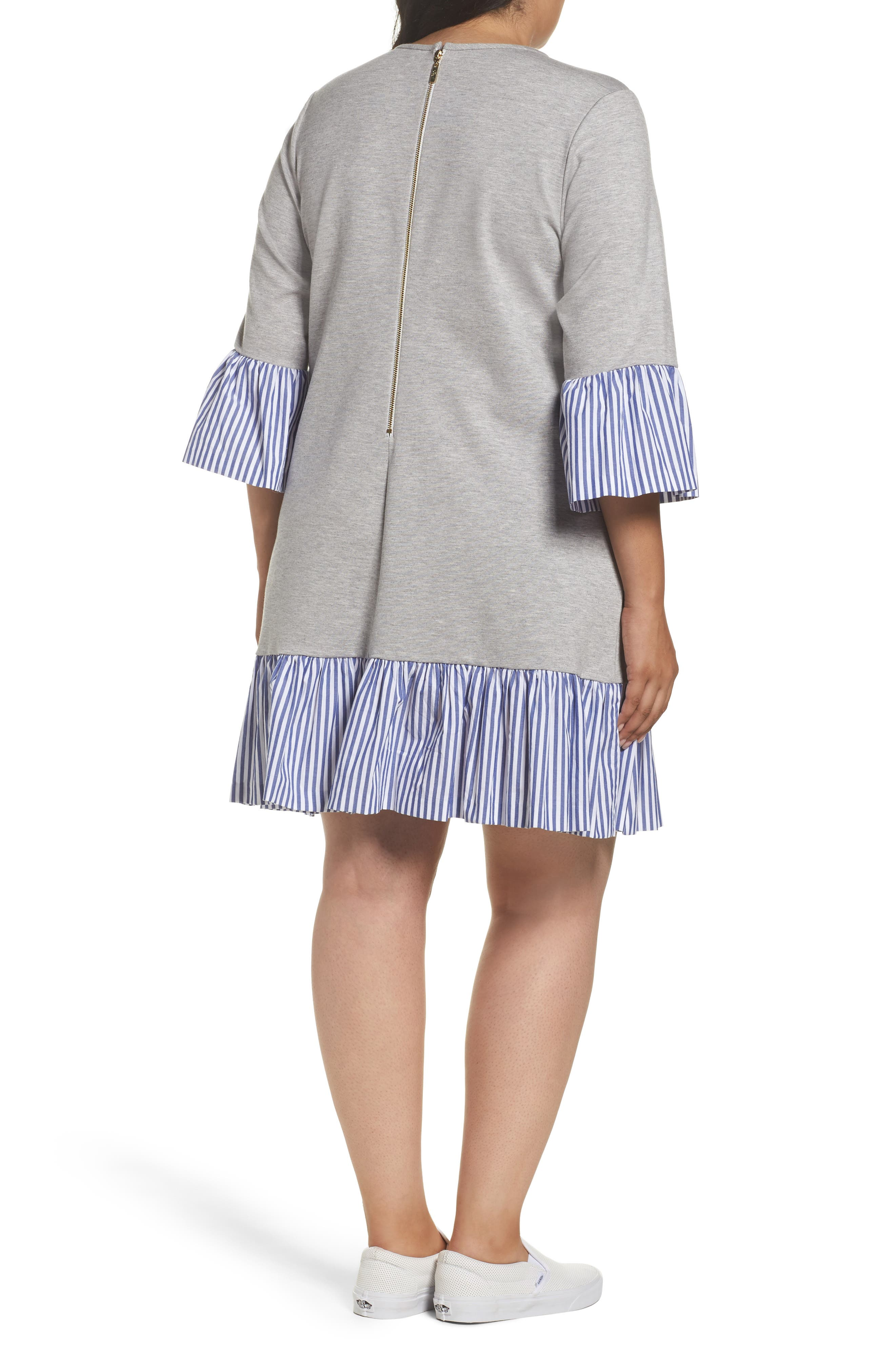 Flounce Hem Sweatshirt Dress,                             Alternate thumbnail 2, color,                             030