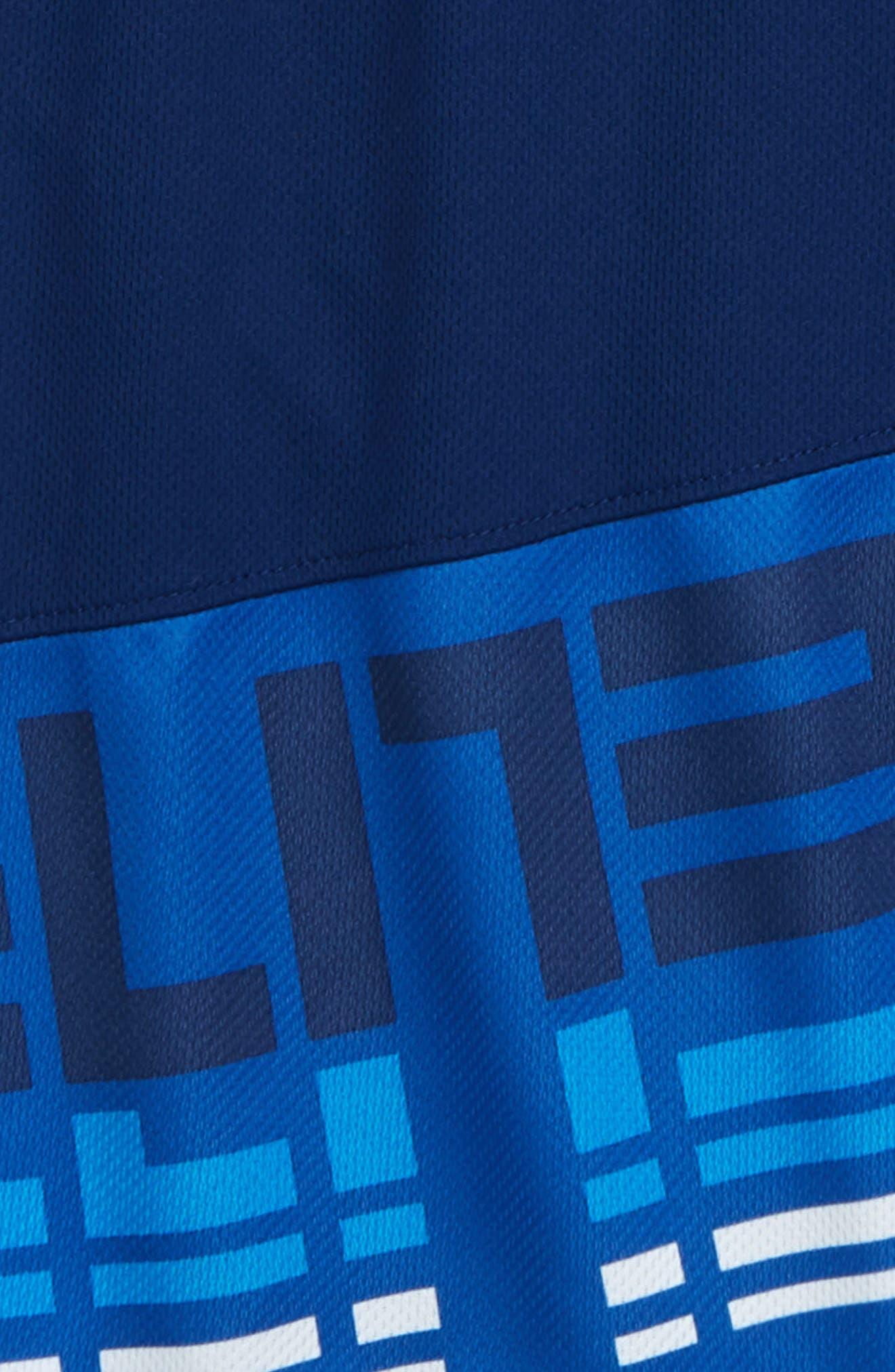 Dry Elite Athletic Shorts,                             Alternate thumbnail 3, color,                             BLUE VOID/ WHITE