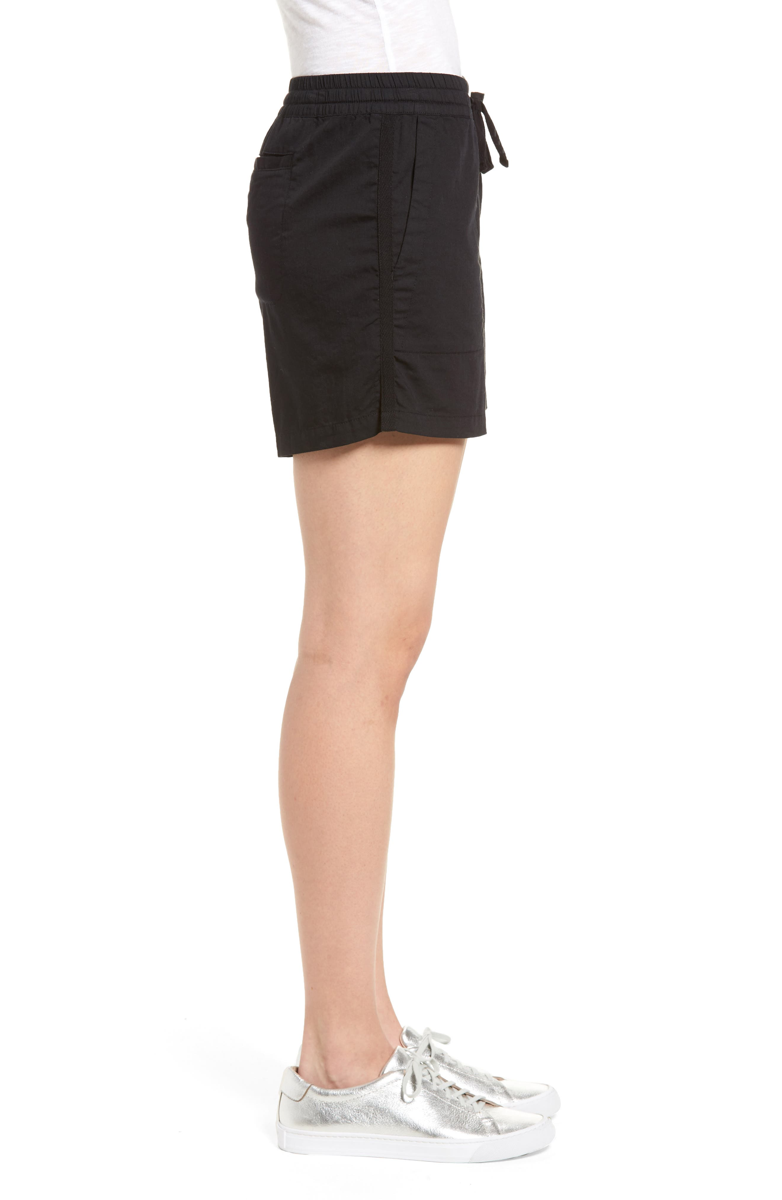 Pull-On Twill Shorts,                             Alternate thumbnail 3, color,                             001