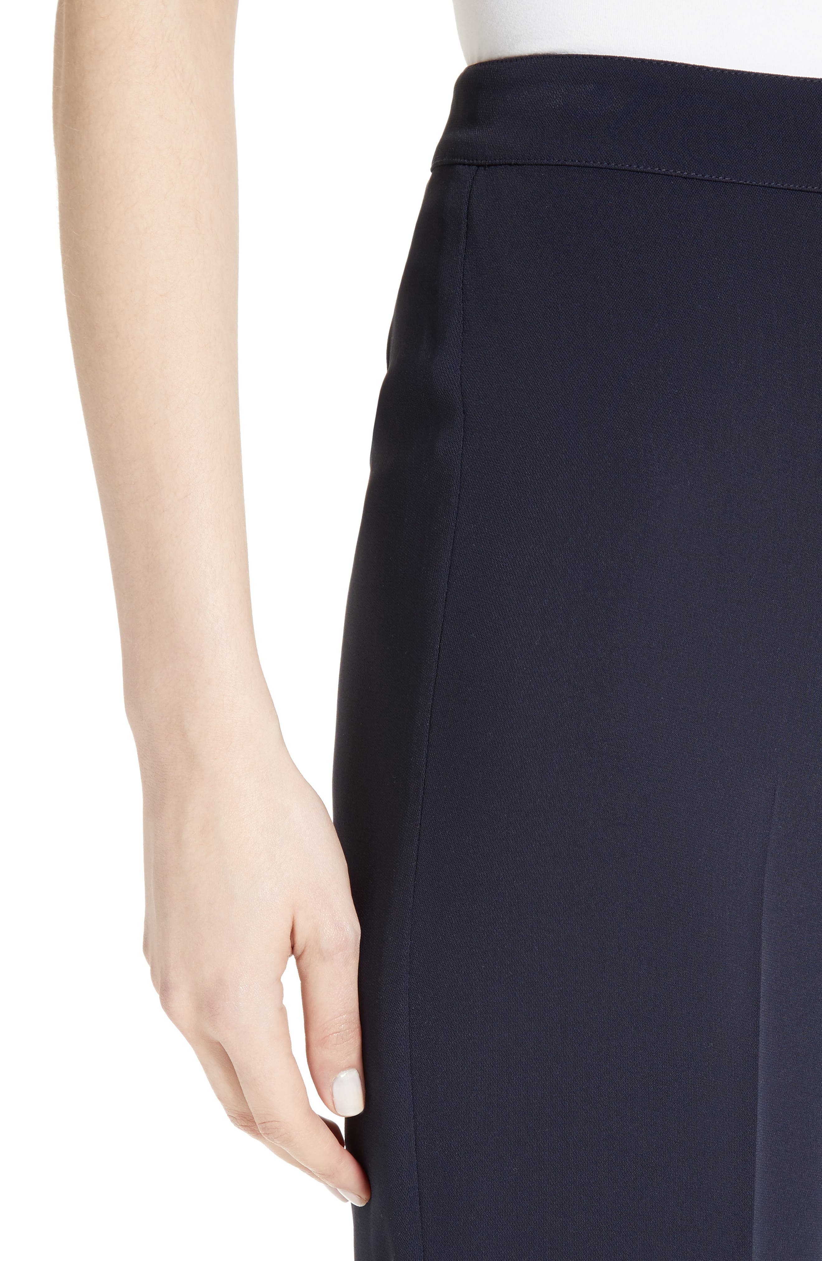 Diana Classic Cady Stretch Pants,                             Alternate thumbnail 4, color,                             NAVY