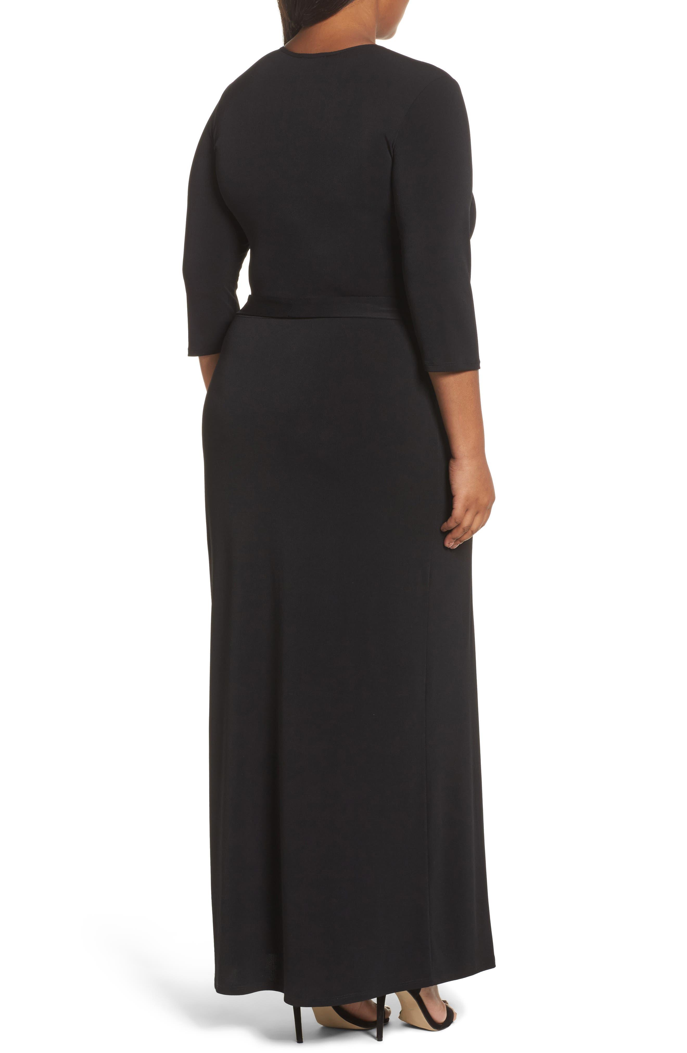 Perfect Faux Wrap Maxi Dress,                             Alternate thumbnail 2, color,                             002