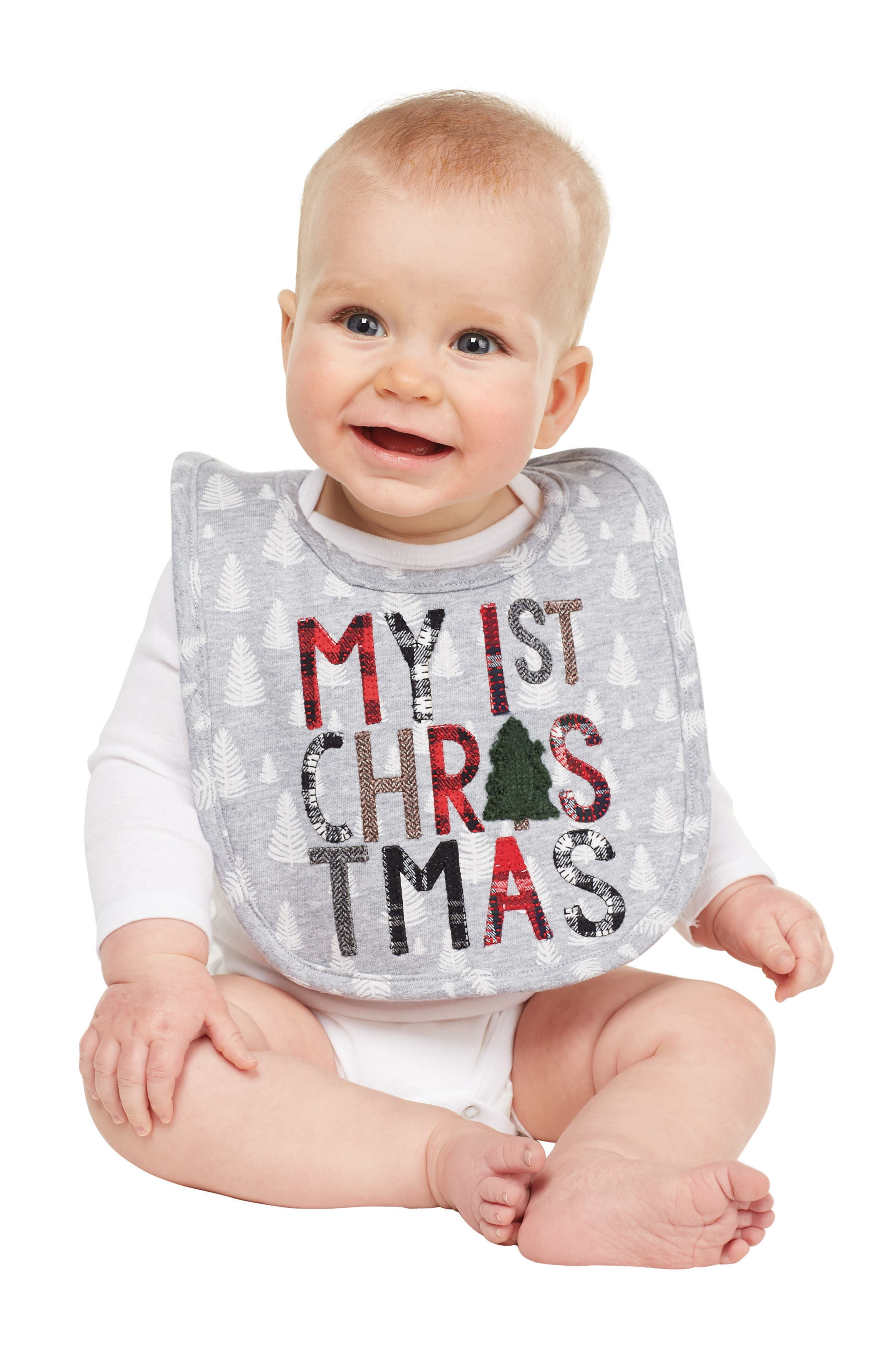 MUD PIE,                             My First Christmas Bib,                             Alternate thumbnail 2, color,                             020