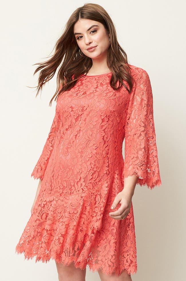 boldly colored dresses plus size dresses - Plus Size Valentine Dresses