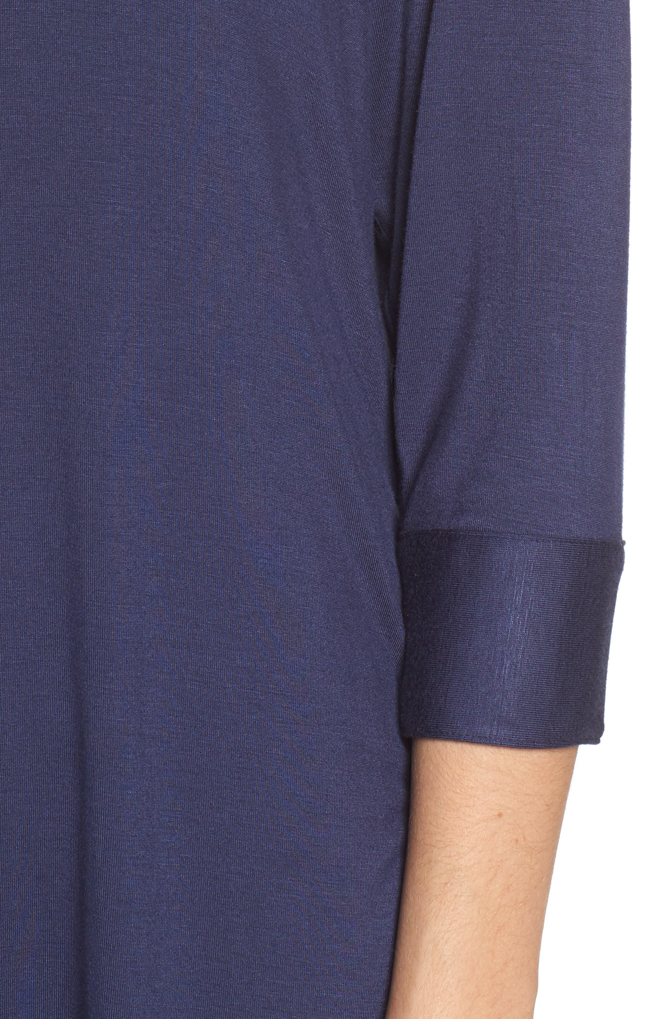 Vivian Sleep Shirt,                             Alternate thumbnail 4, color,                             NAVY