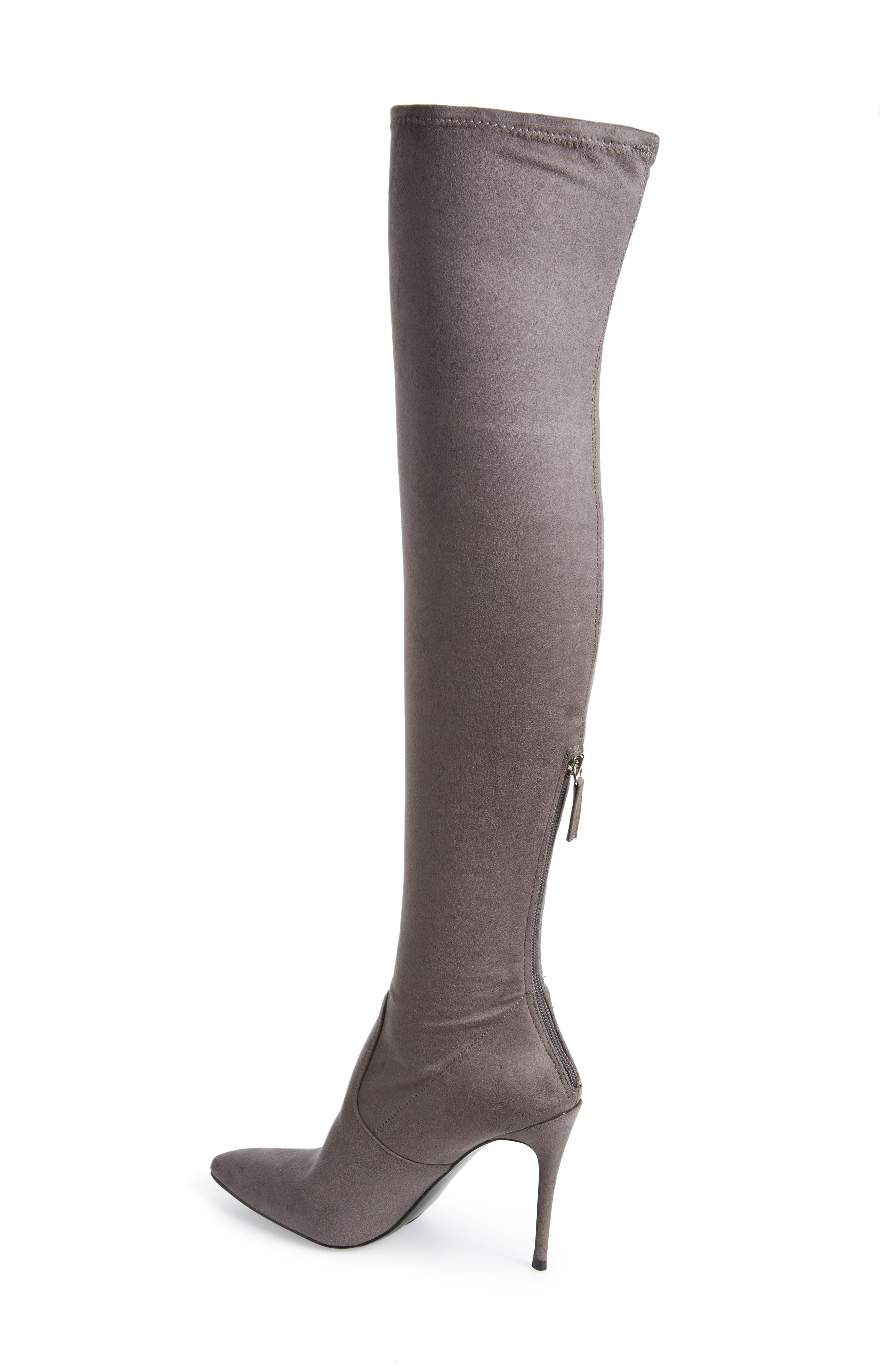 Devine Over the Knee Boot,                             Alternate thumbnail 2, color,                             GREY SUEDE