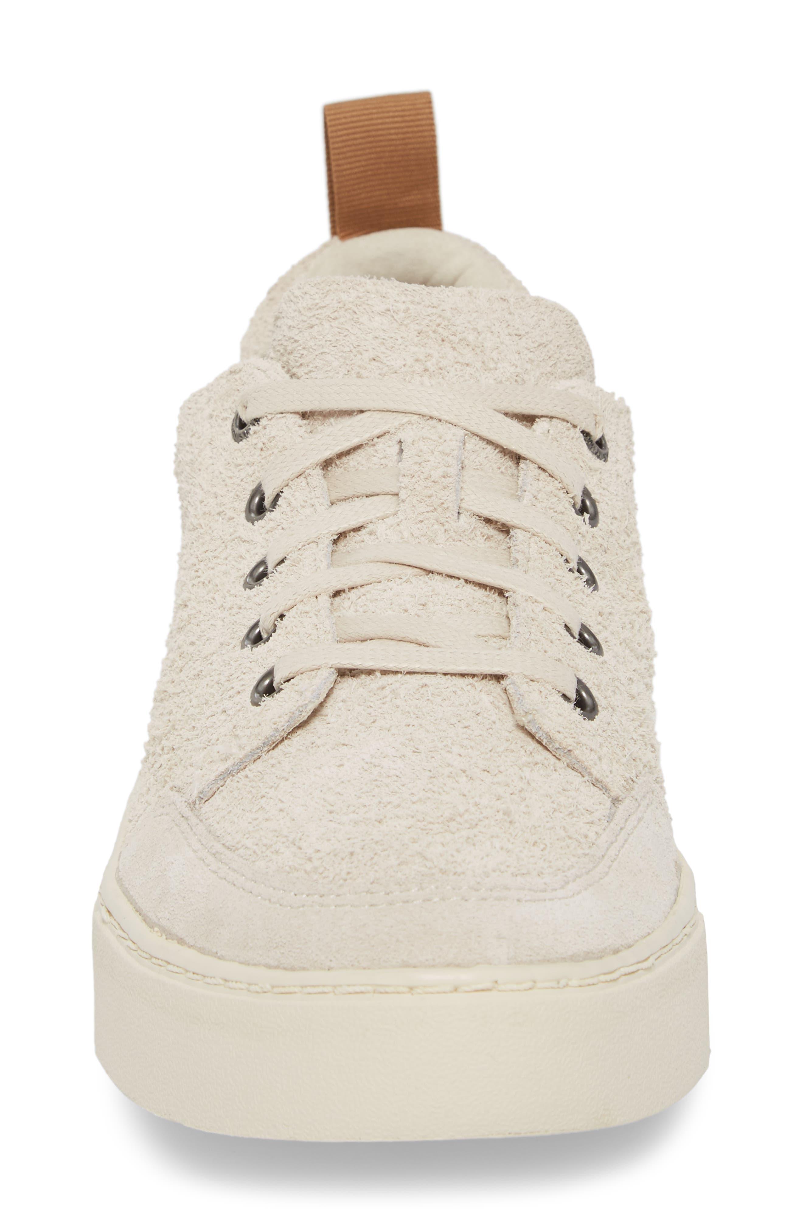 Landen Sneaker,                             Alternate thumbnail 4, color,                             BIRCH SHAGGY SUEDE