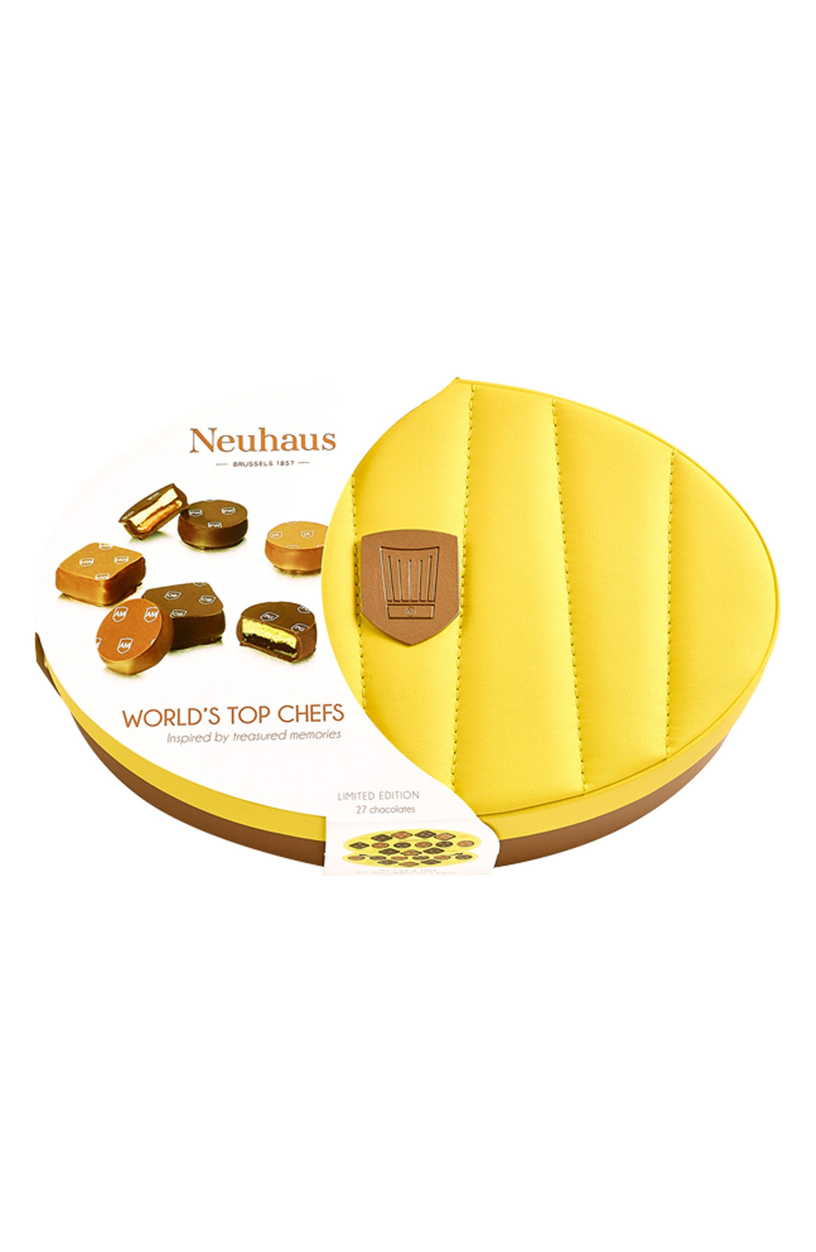 World's Top Chefs 27-Piece Chocolate Gift Set,                             Alternate thumbnail 2, color,                             YELLOW