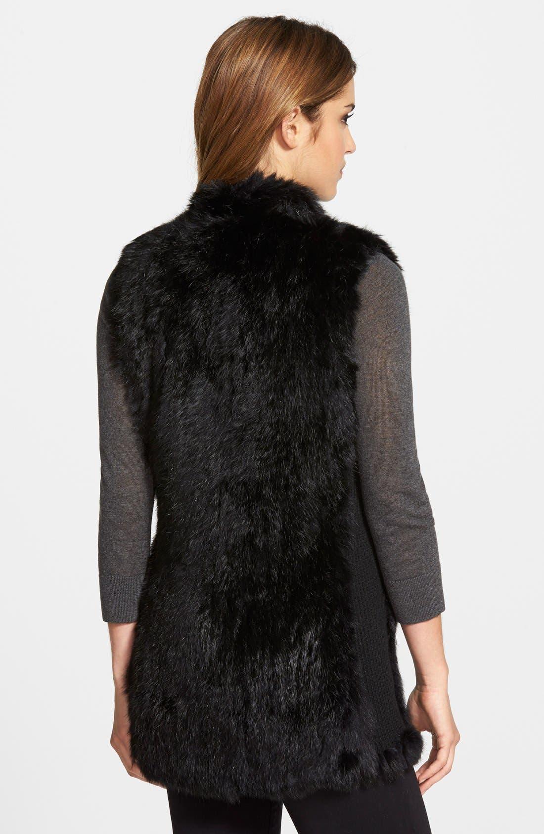 Genuine Rabbit Fur & Knit Vest,                             Alternate thumbnail 32, color,