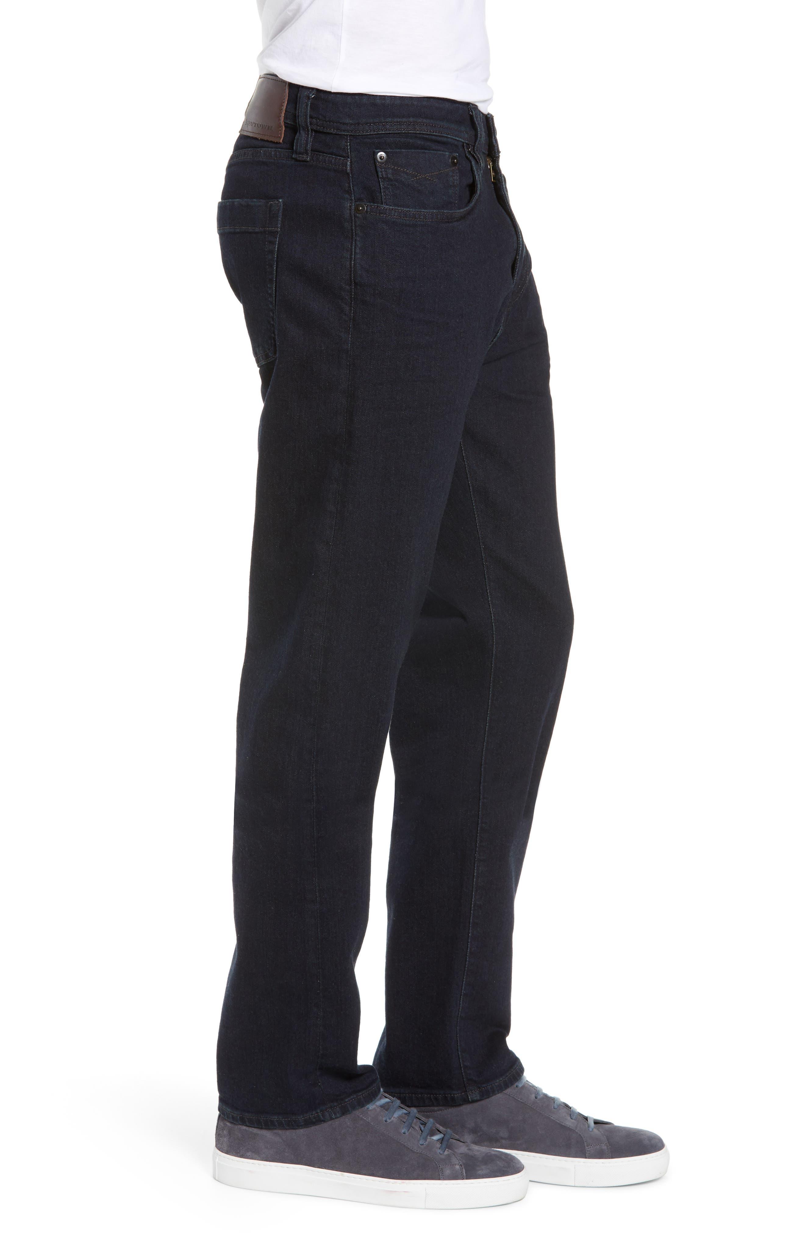 REVTOWN,                             Automatic Straight Leg Jeans,                             Alternate thumbnail 3, color,                             RINSE INDIGO
