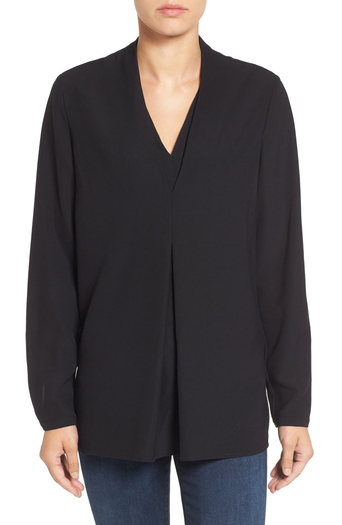 'Minimalist' V-Neck Top,                         Main,                         color, 004