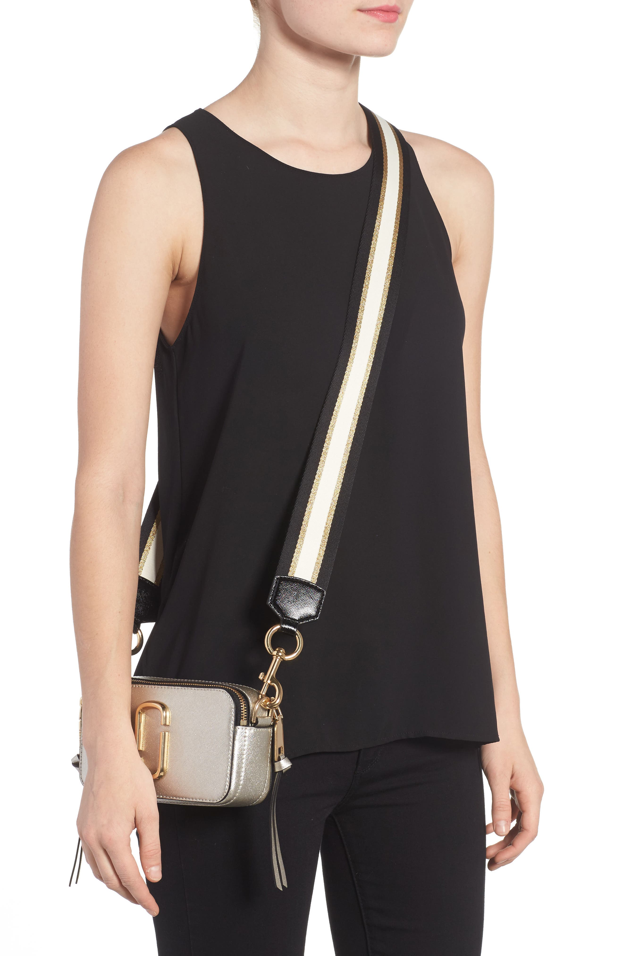Snapshot Leather Crossbody Bag,                             Alternate thumbnail 2, color,                             048