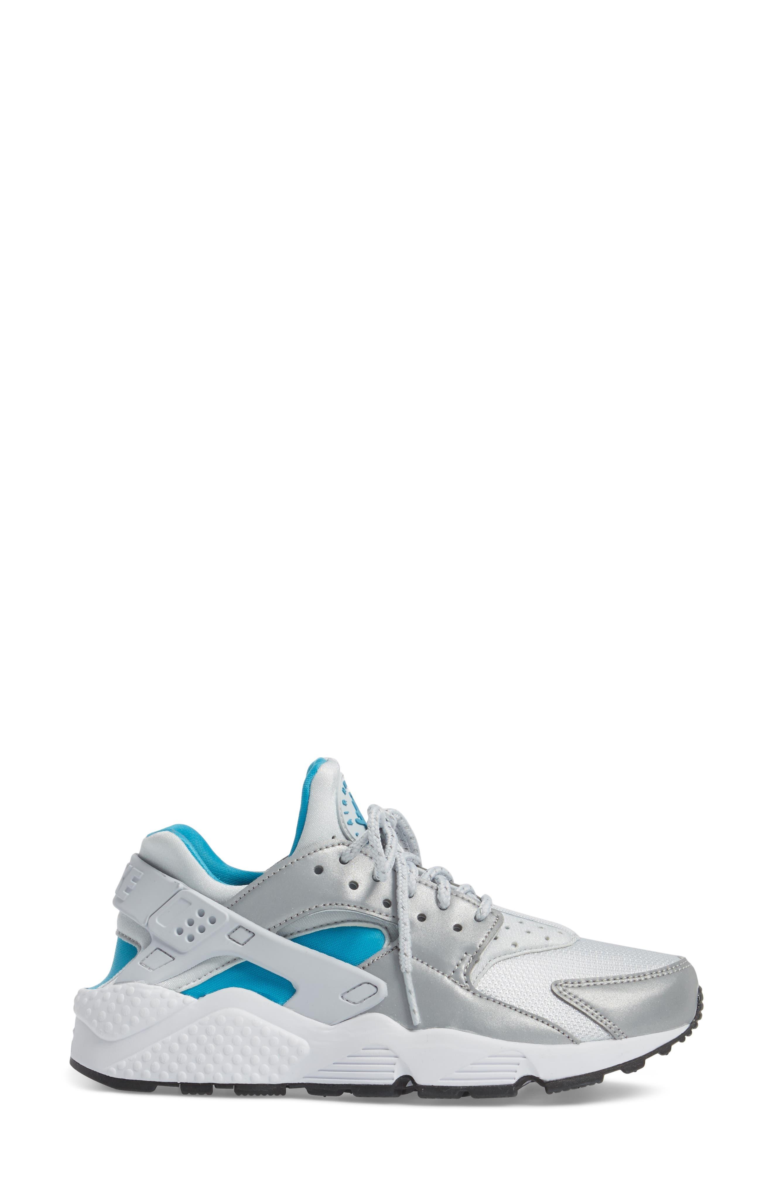 Air Huarache Run QS Sneaker,                             Alternate thumbnail 3, color,