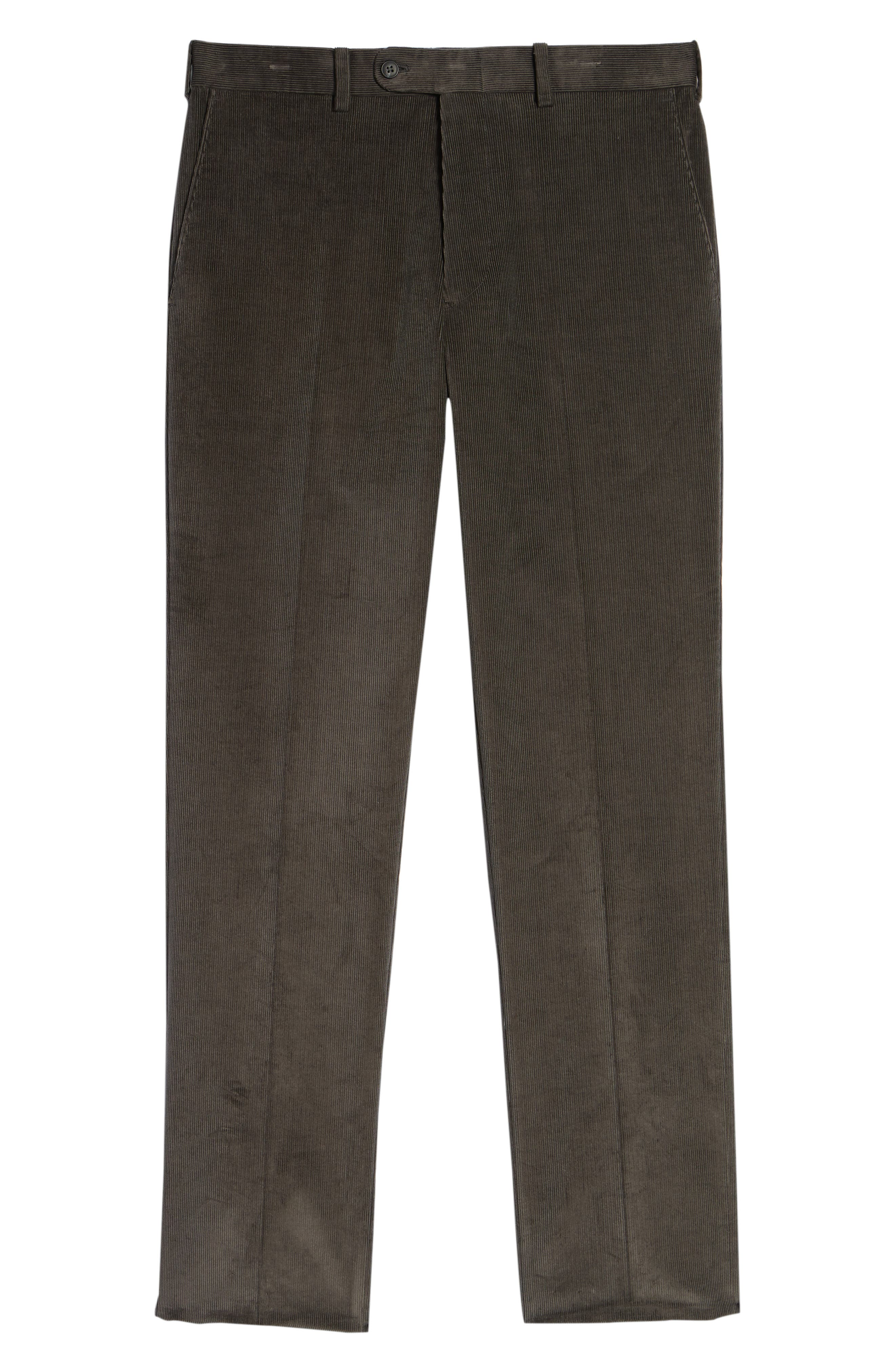 Torino Traditional Fit Flat Front Corduroy Trousers,                             Alternate thumbnail 6, color,                             GREY