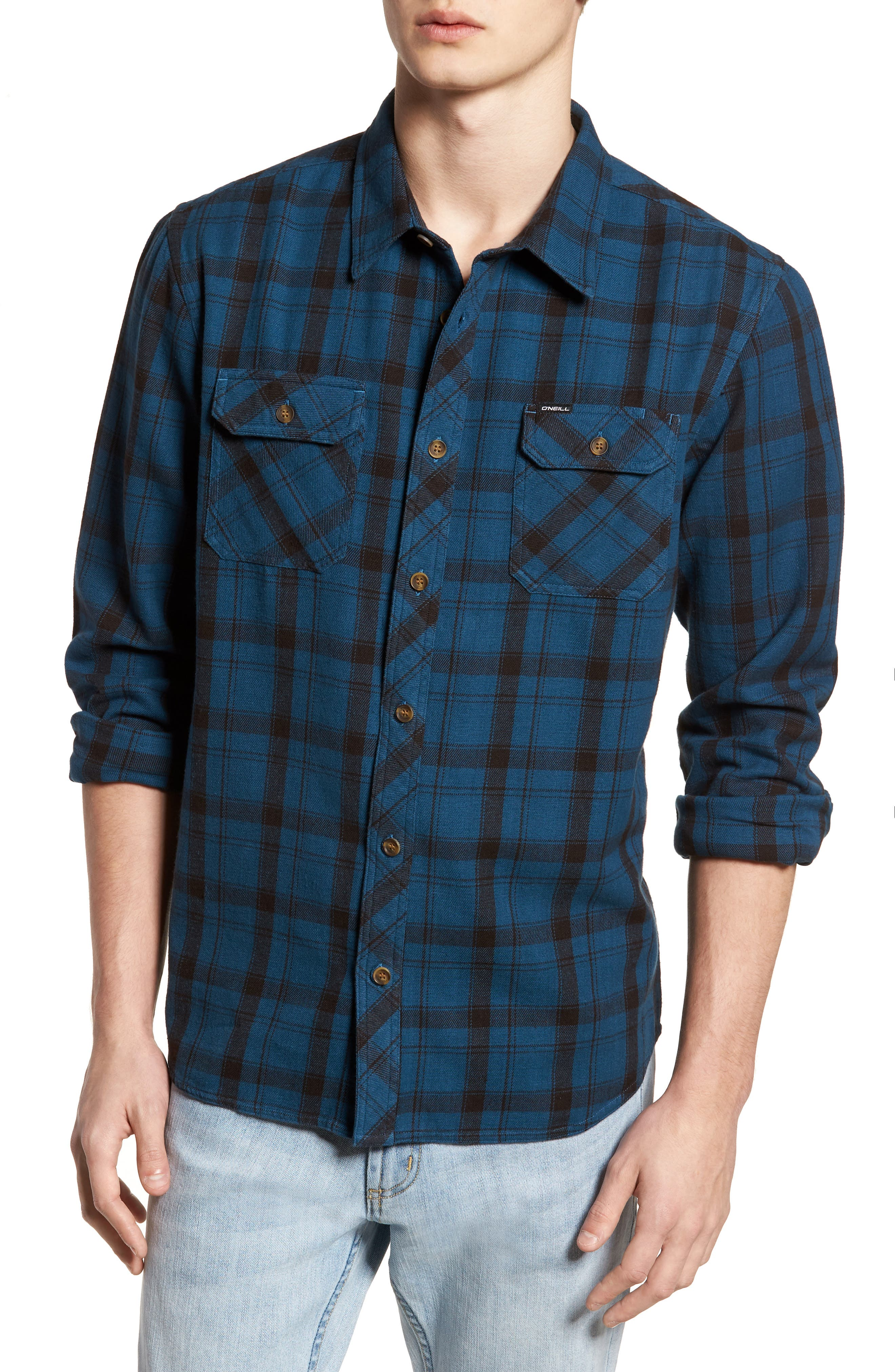Carpenter Flannel Shirt,                             Main thumbnail 3, color,